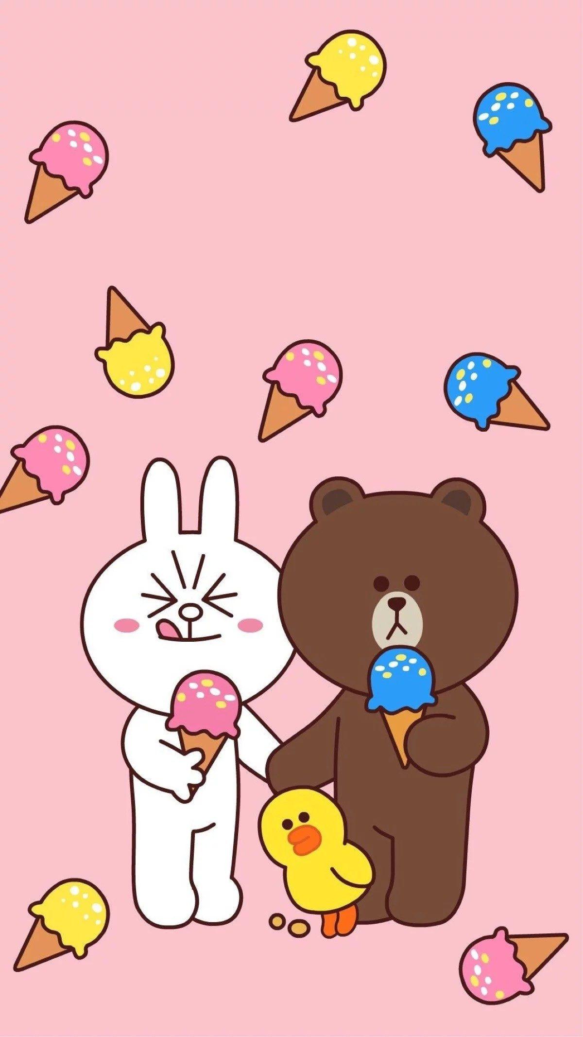 Phone Wallpapers Iphone 7 Bunny Cartoon Screen Funds Love