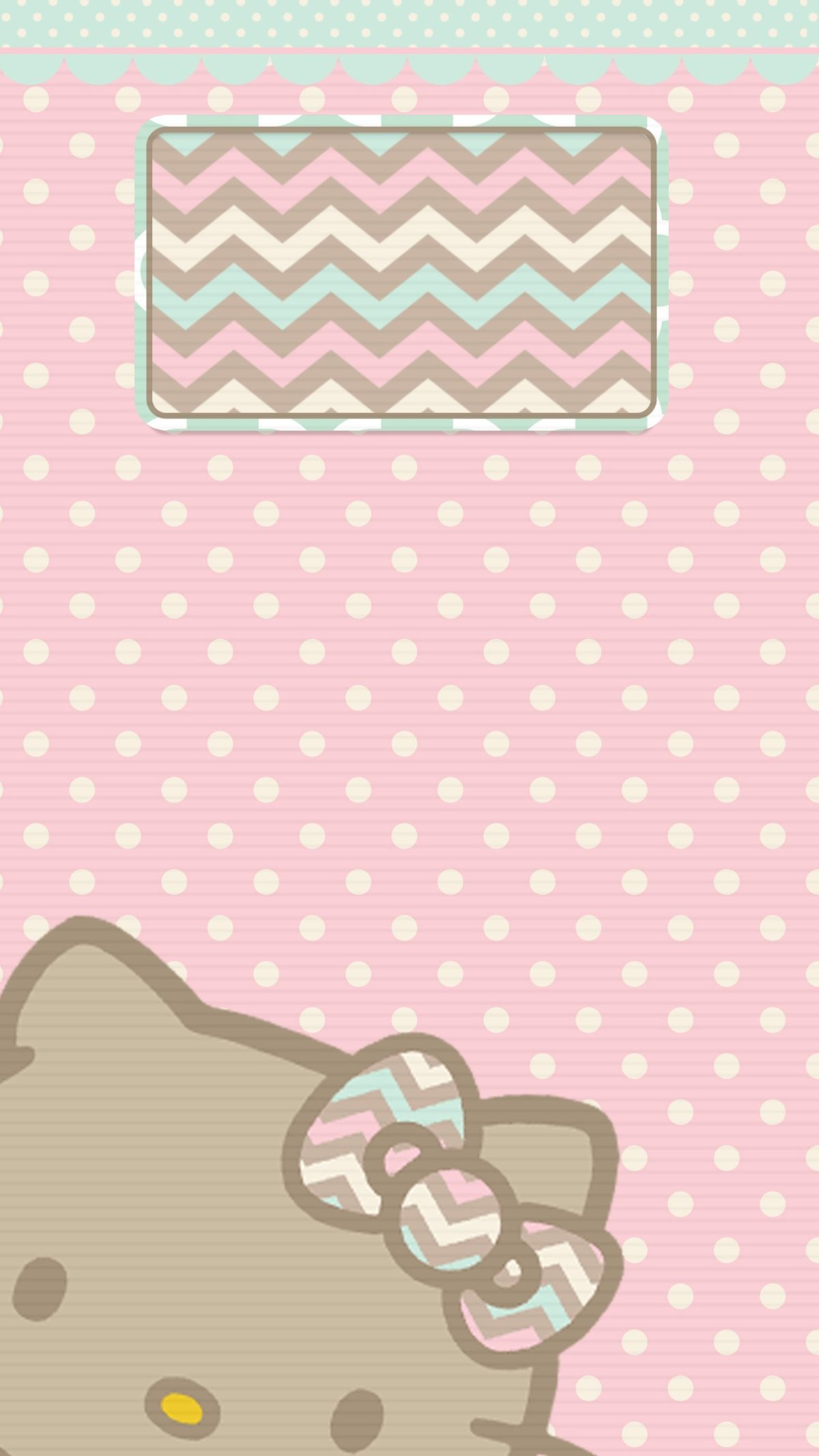 photograph relating to Printable Wallpapers identified as Pastel Partitions, Hi there Kitty Wallpaper, Sanrio, Mobile phone
