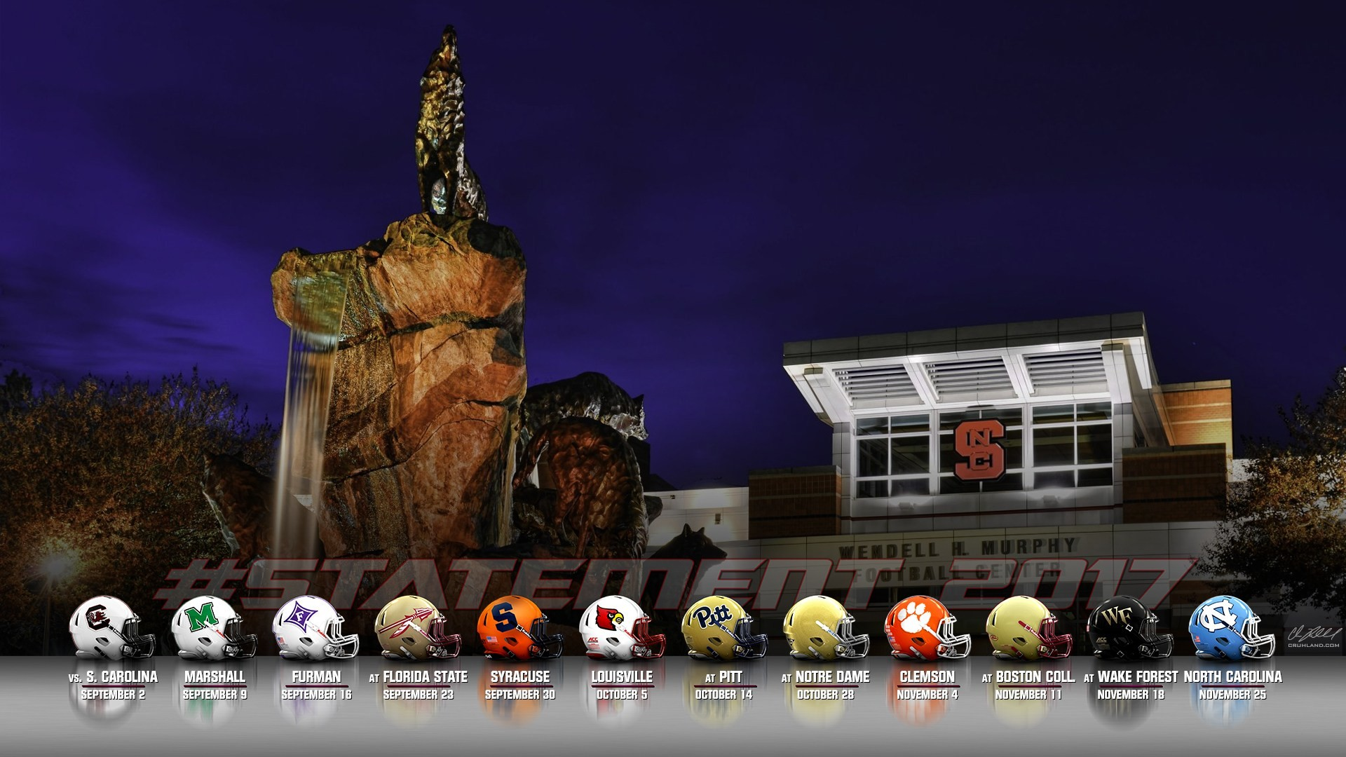 What better way to show your support than with these 2017 football schedule  wallpapers. Thanks to my buddy @Hokie20 for his help putting these together.