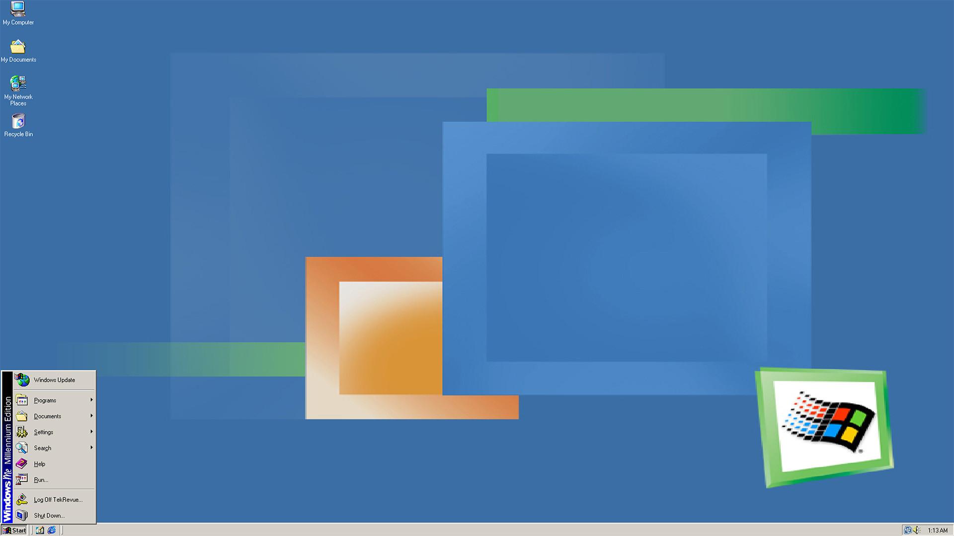 windows me start menu desktop