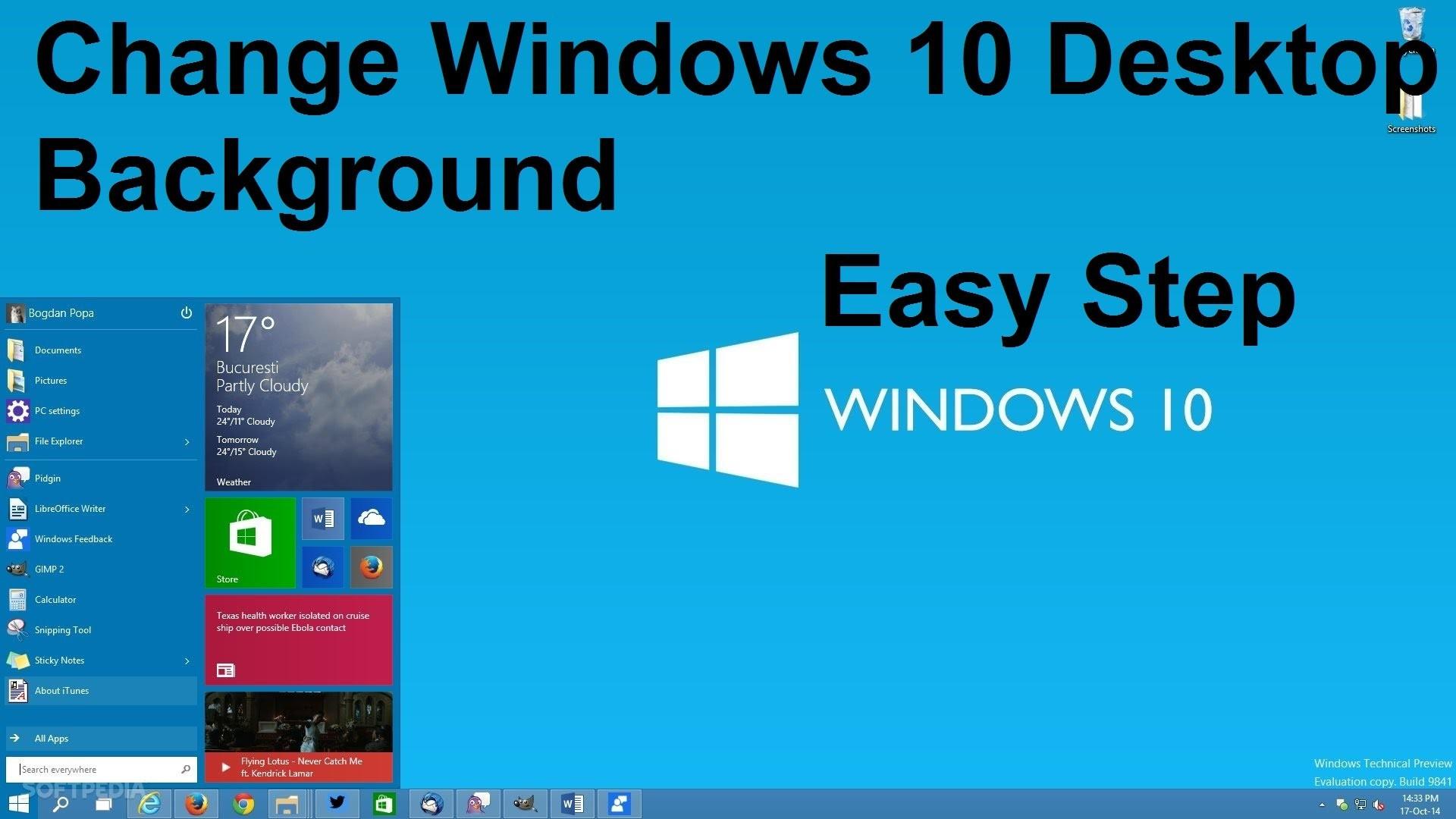 How To Change Windows 10 Desktop Background Wallpaper