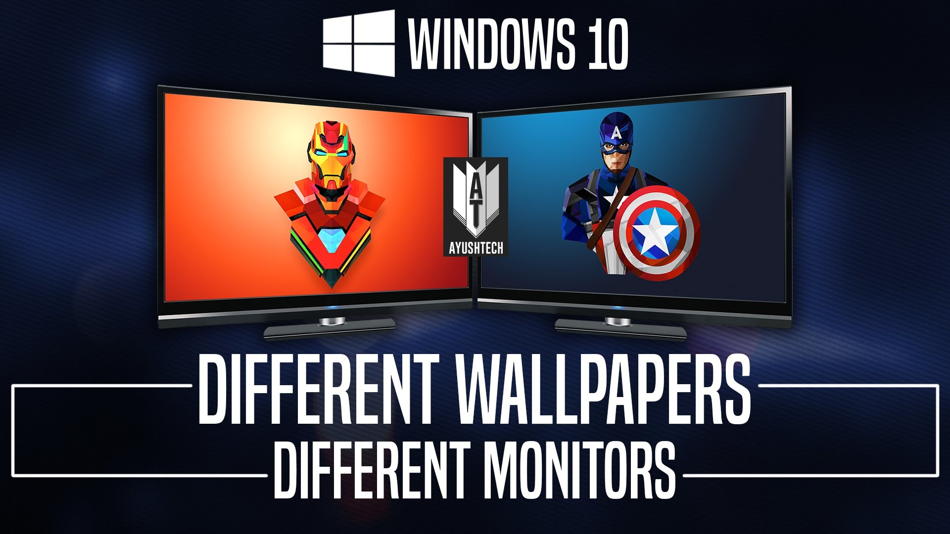 Set Different Wallpapers on Multiple Monitors in Windows 10 (Simple How to)  – YouTube