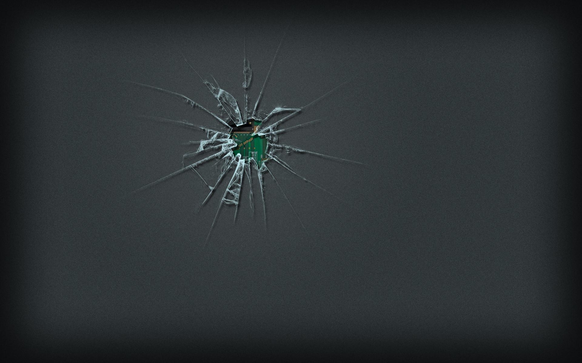 … Broken Screen Wallpaper …