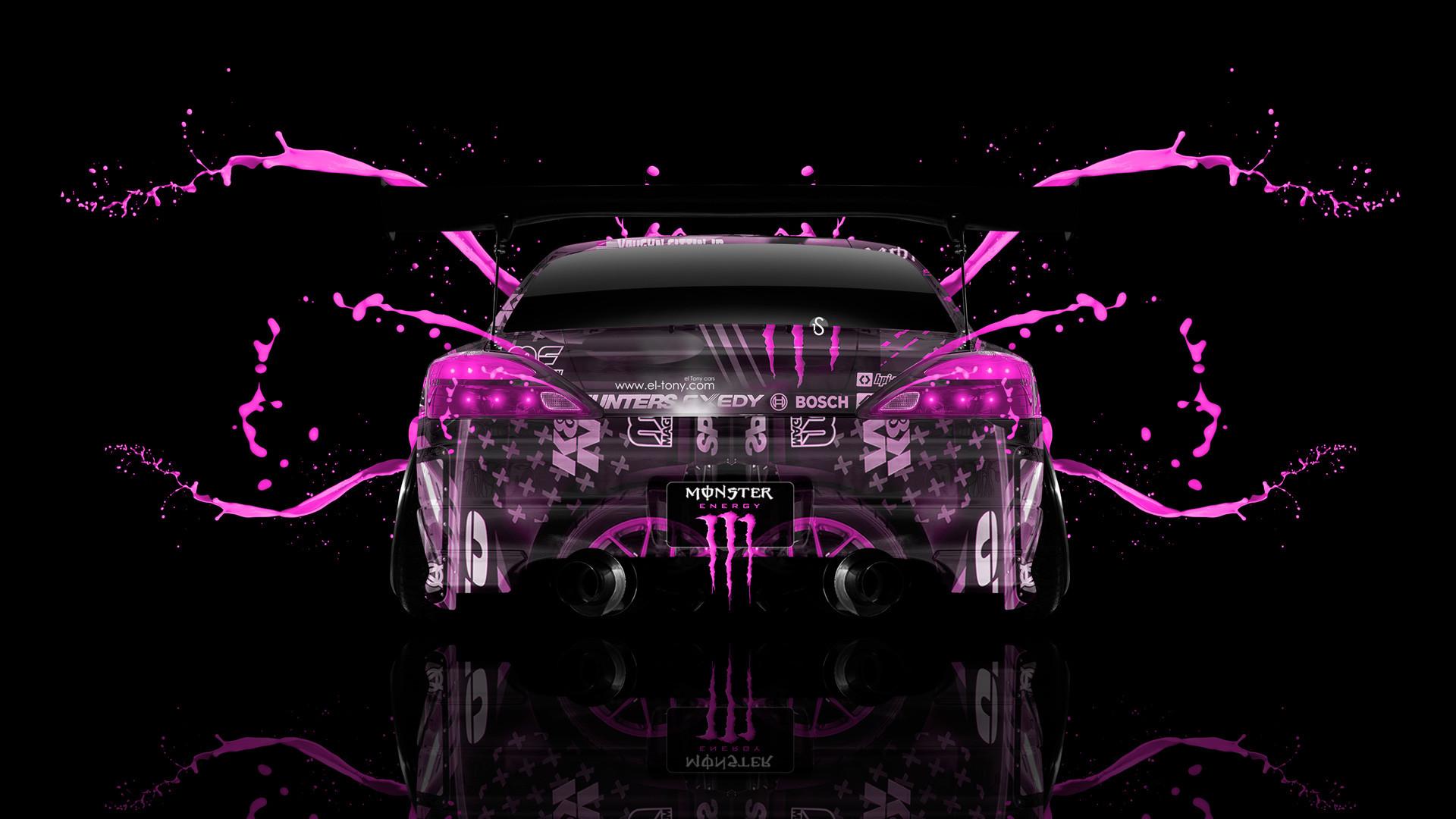 Monster Energy Nissan Silvia S15 JDM Back Live Colors Car 2014   el Tony