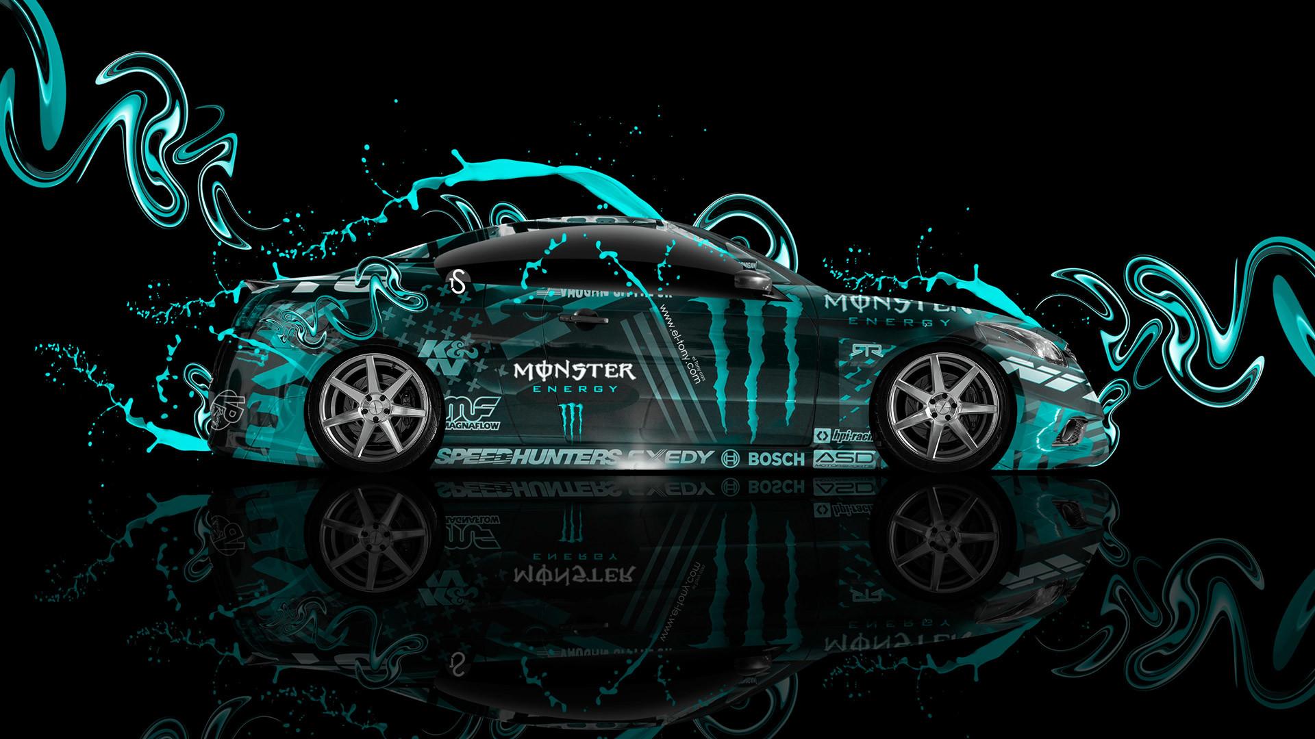 … Monster-Energy-Infiniti-G37-Side-Plastic-Azure-Live-