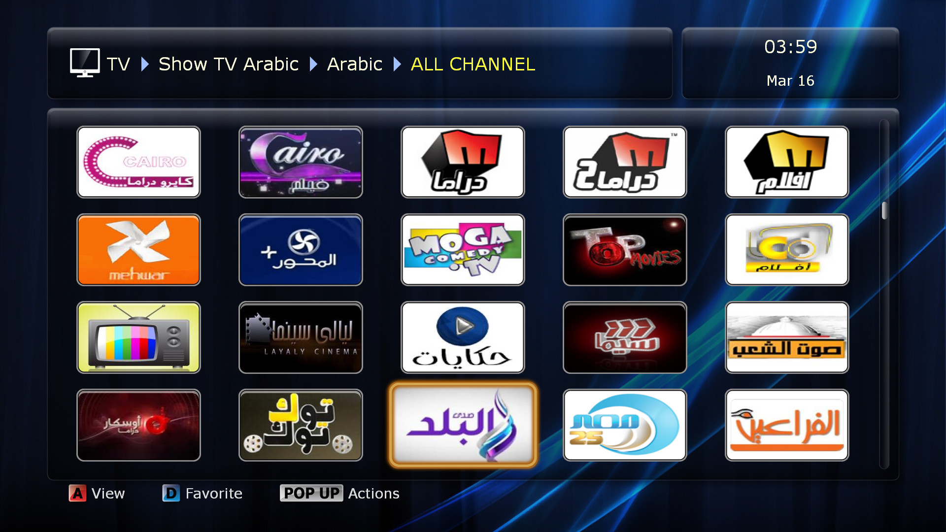 Watch more than 350 Arabic HD TV channels including best sports channels