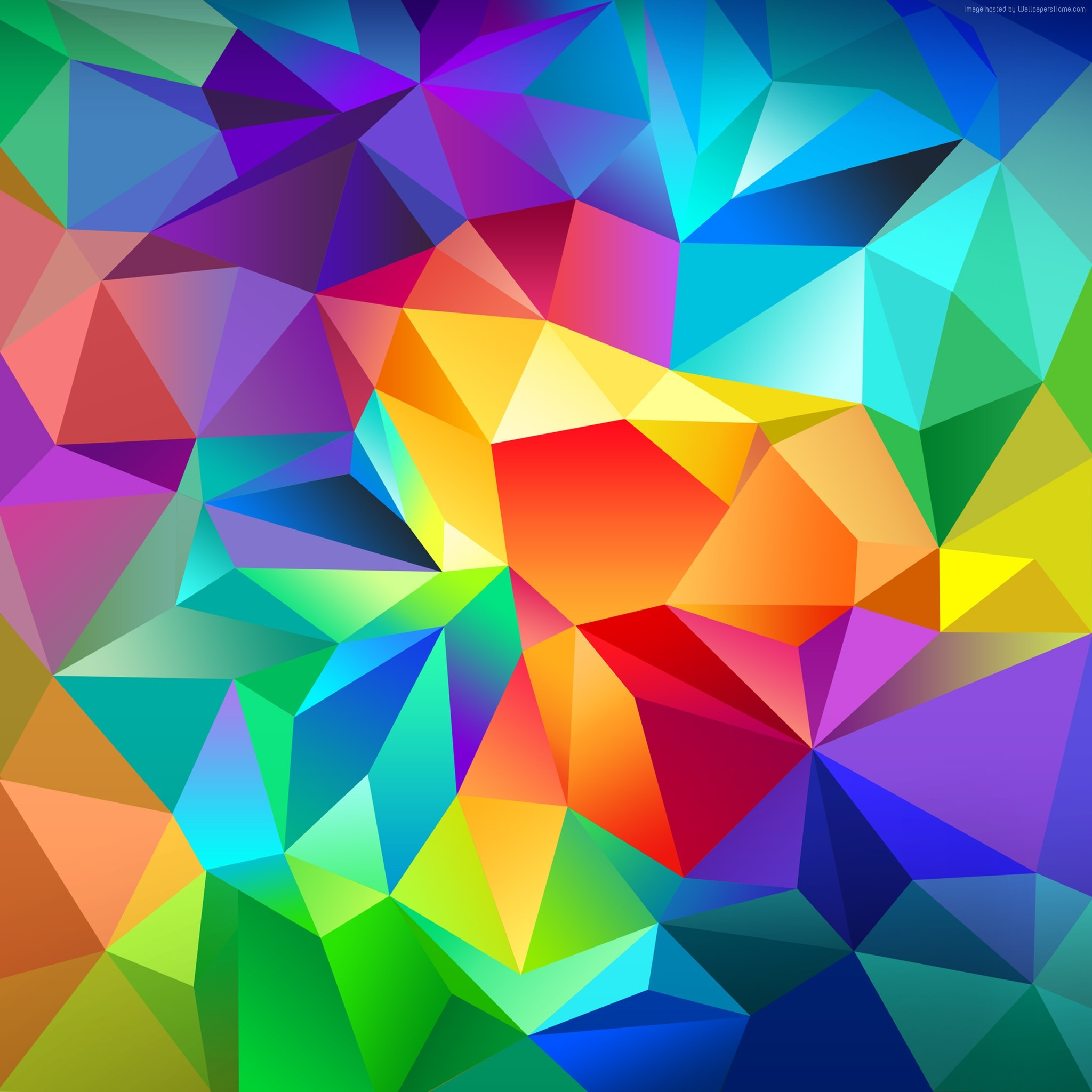 Wallpaper polygon, 4k, HD wallpaper, android wallpaper, triangle,  background, orange, red, blue, pattern, OS #3518. I've always believed that  wallpaper