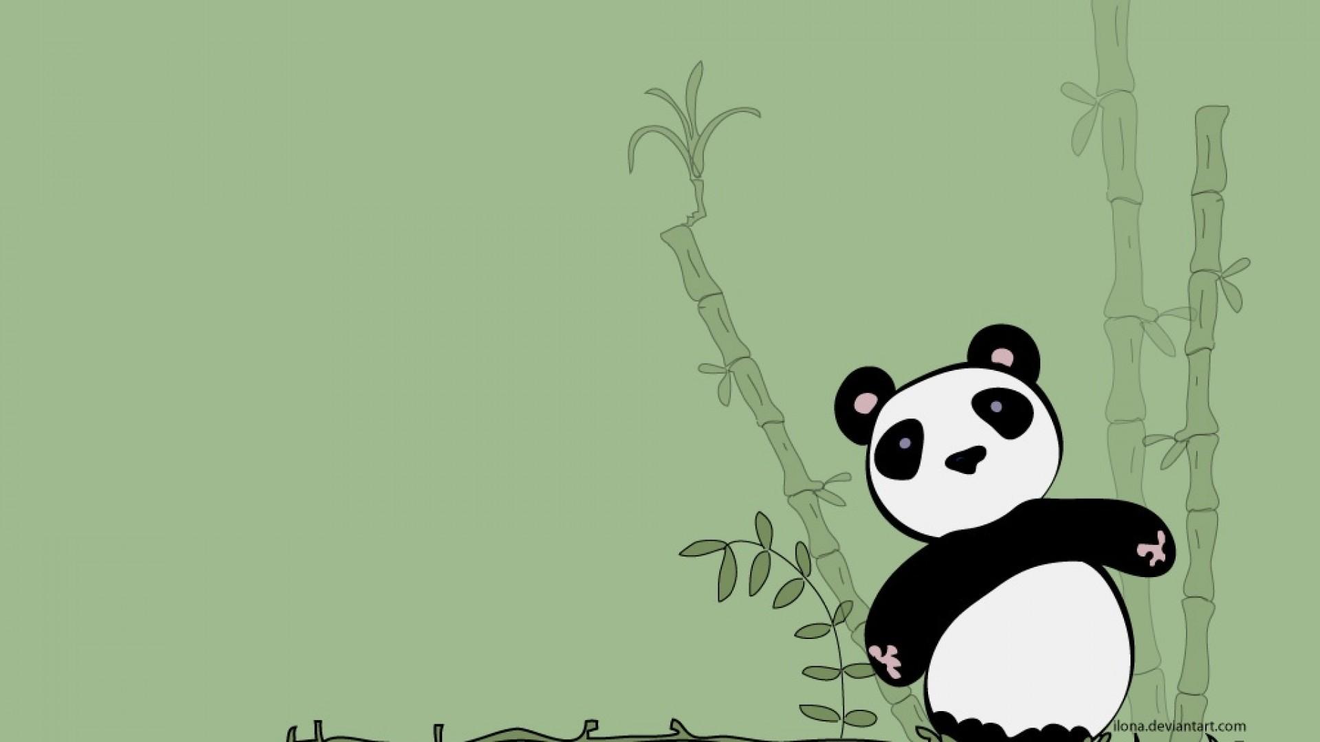 Cute Panda Background wallpaper