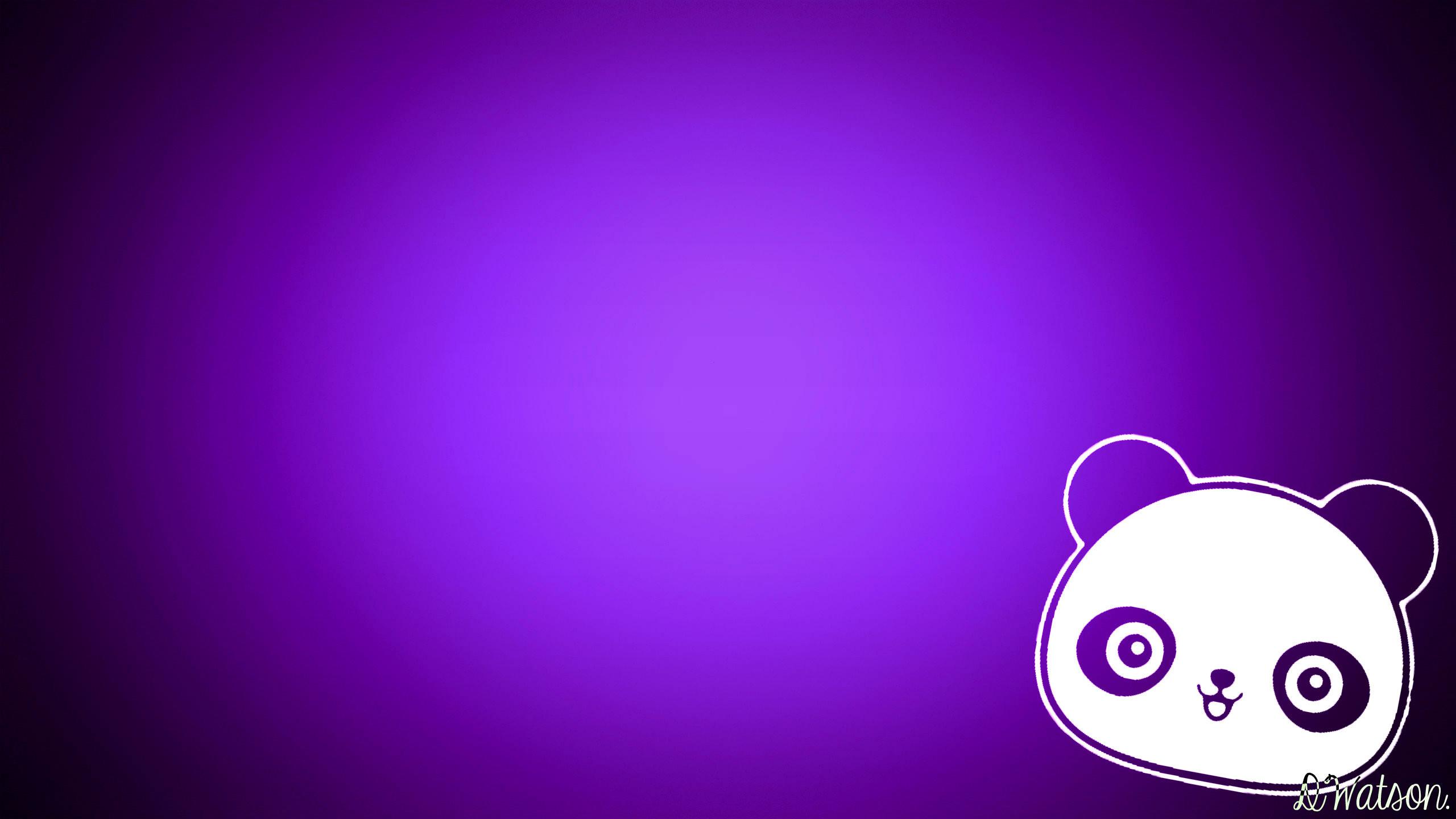 Cute purple panda background