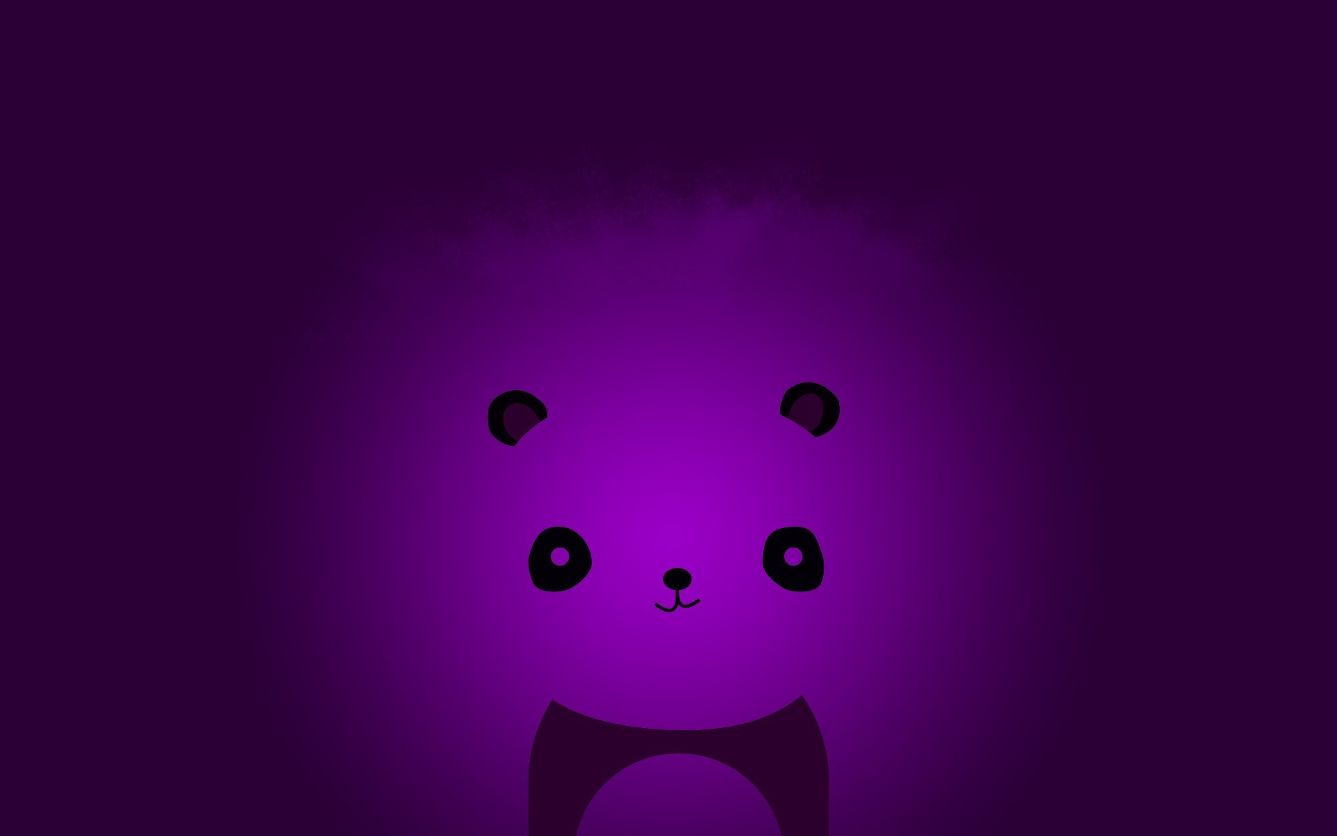 Abstract minimalistic violet panda bears wallpaper | | 61005 |  WallpaperUP