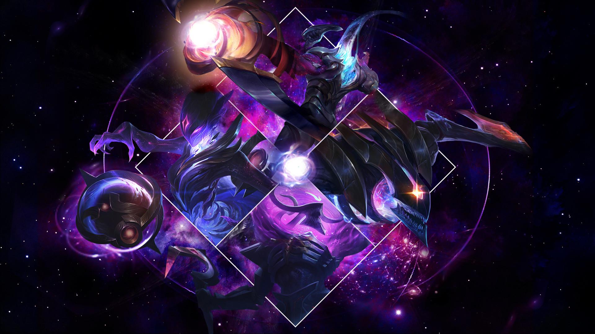 Dark Star Orianna Kha'Zix, Thresh & Varus by syraelx HD Wallpaper Fan Art