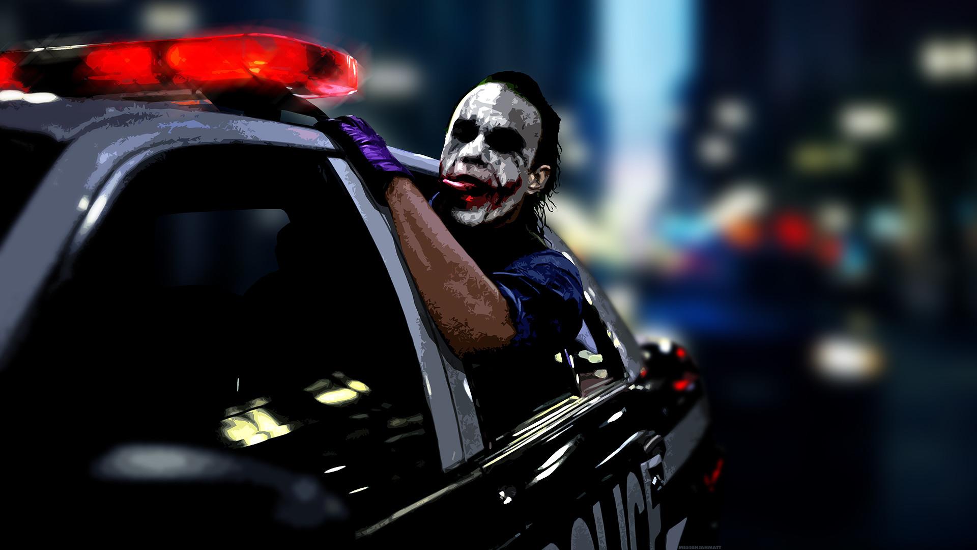 The Joker Wallpaper The, Joker, Heath, Ledger, Police, Cars .