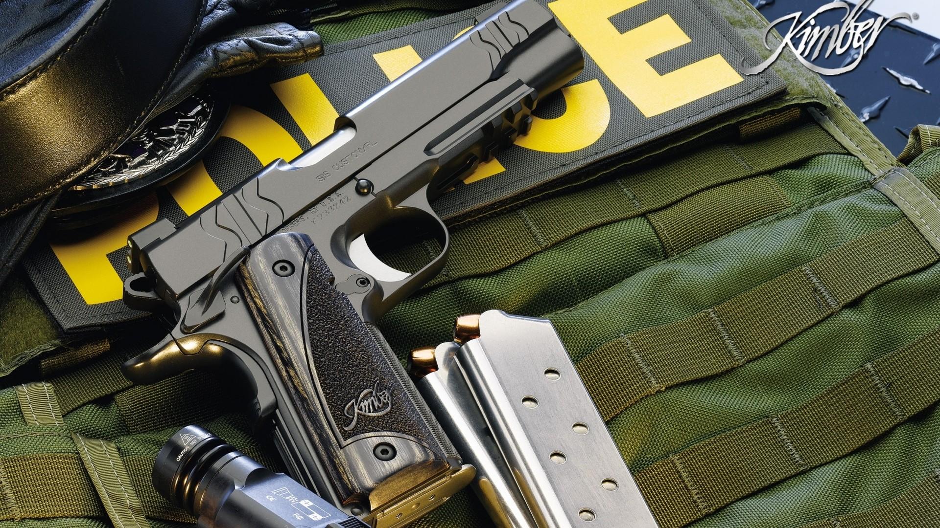 Wallpaper police, guns, gun, knife, defense