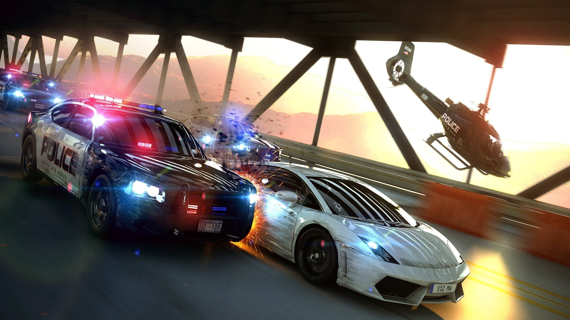 most wanted chase police cops bridge chase speed art