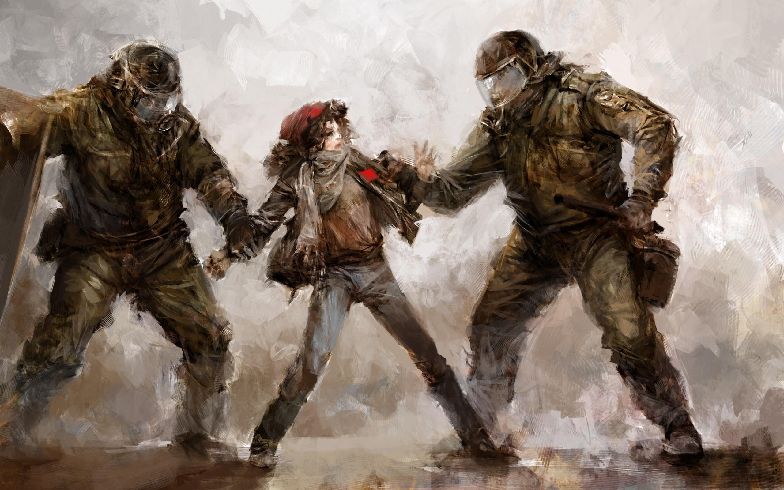 Riot Drawing Anarchy Police Wallpaper At Dark Wallpapers