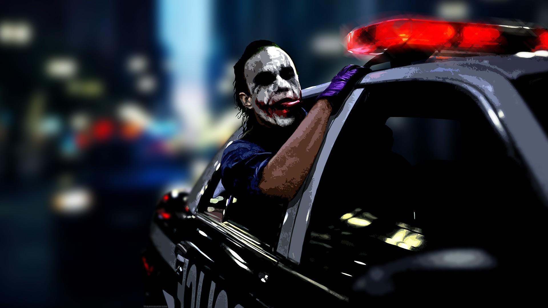 anime, Police, Digital Art, Heath Ledger, Joker, Batman, MessenjahMatt  Wallpapers HD / Desktop and Mobile Backgrounds