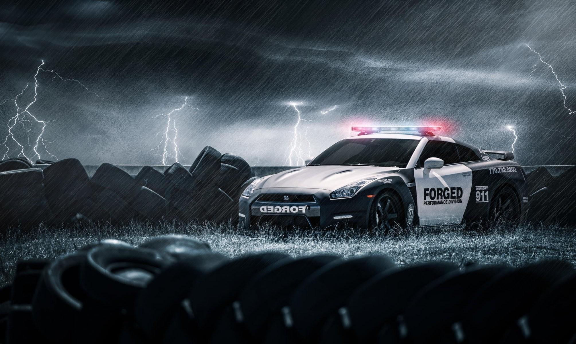 nissan gt-r black police nissan police tyres tyres rain lightning