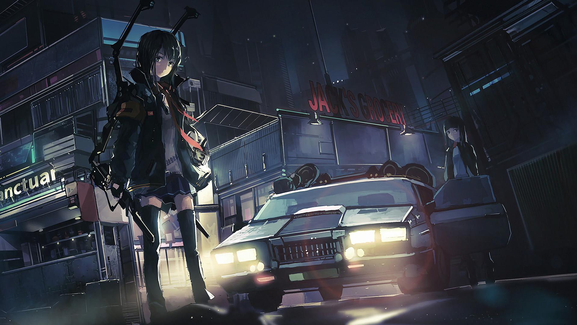 Anime original characters police cars anime anime girls