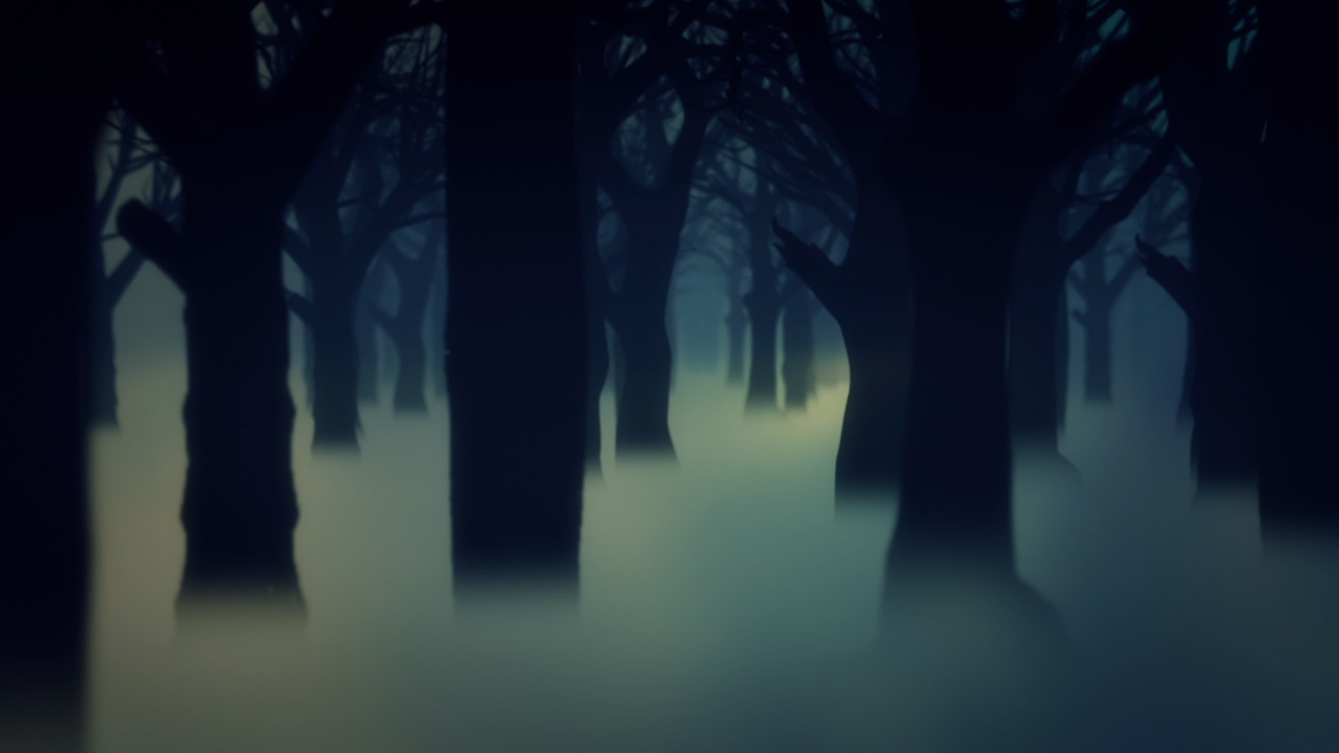 Dark Forest Fog Trees Animated Background Wallpaper PixelBoom
