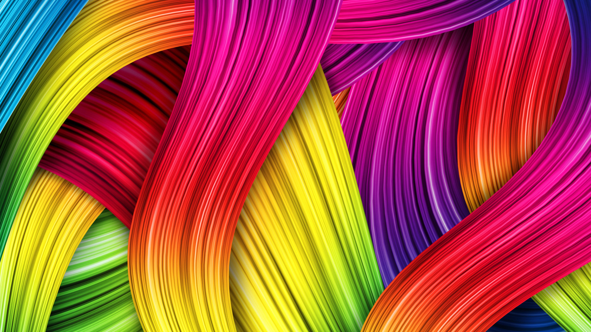 Animated Colorful Thread Wallpaper With Resolutions 1920×1080 Pixel