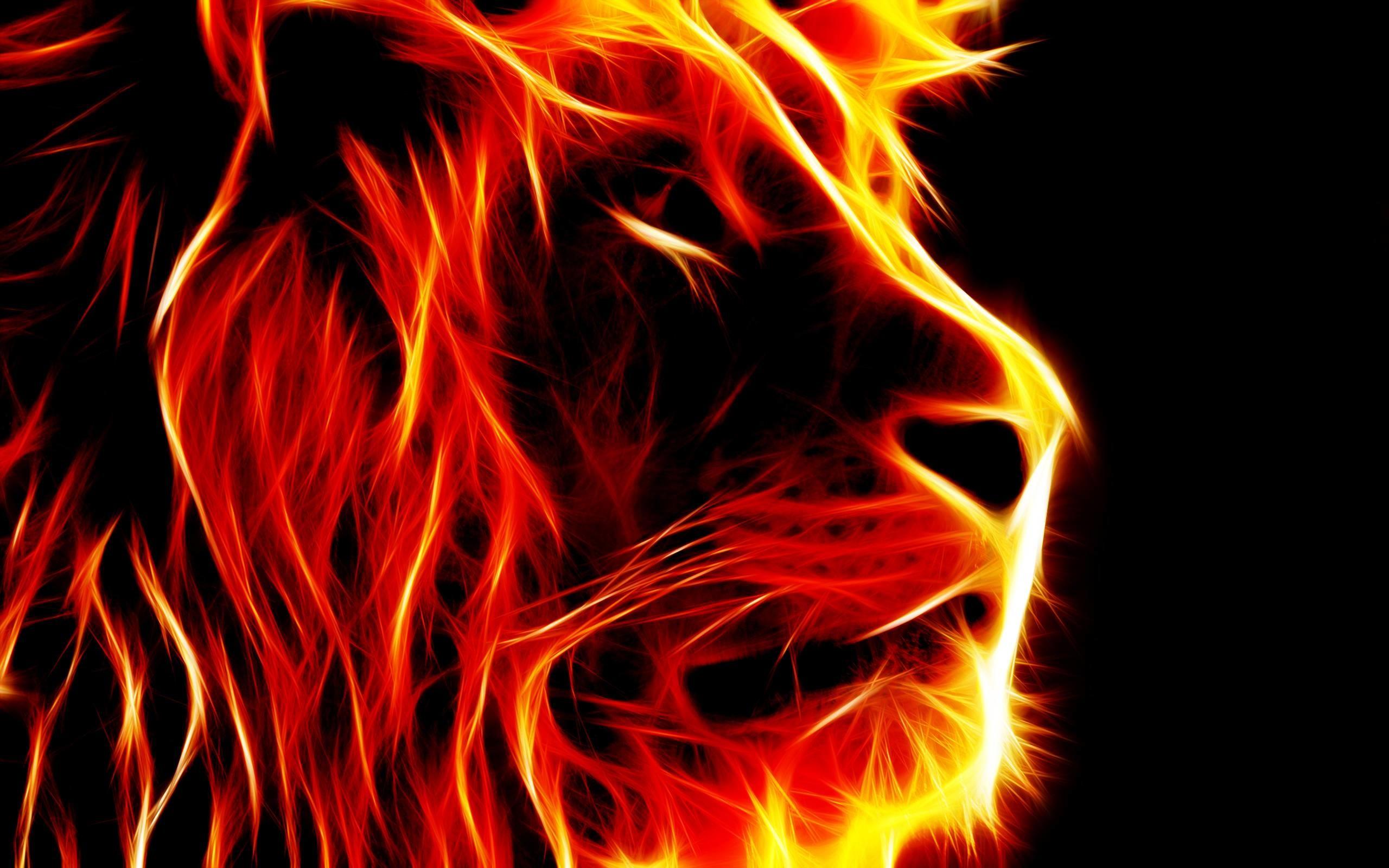 Noteworthy Artistic Fire Lion Wallpaper Hd 2560x1600PX ~ Artistic .