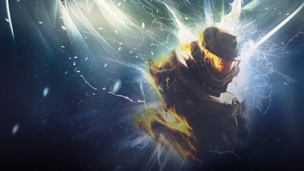 Wallpaper halo, soldier, graphics, fire
