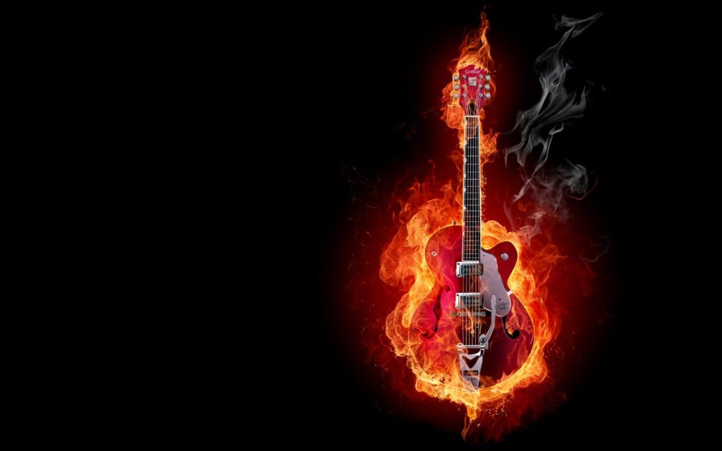 Guitar Fire Image