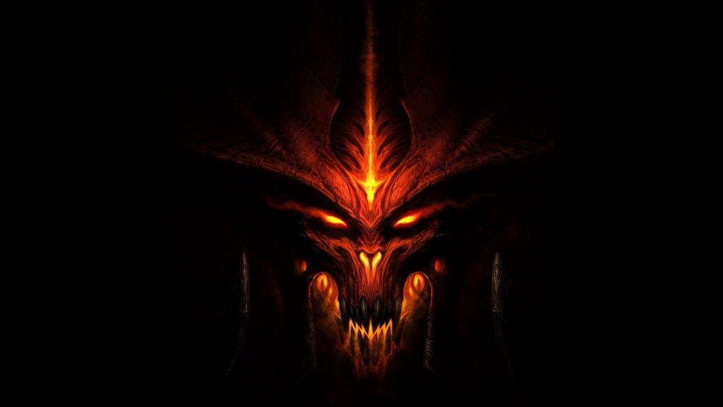 Download Diablo Face Look Fire Wallpaper Wallpaper