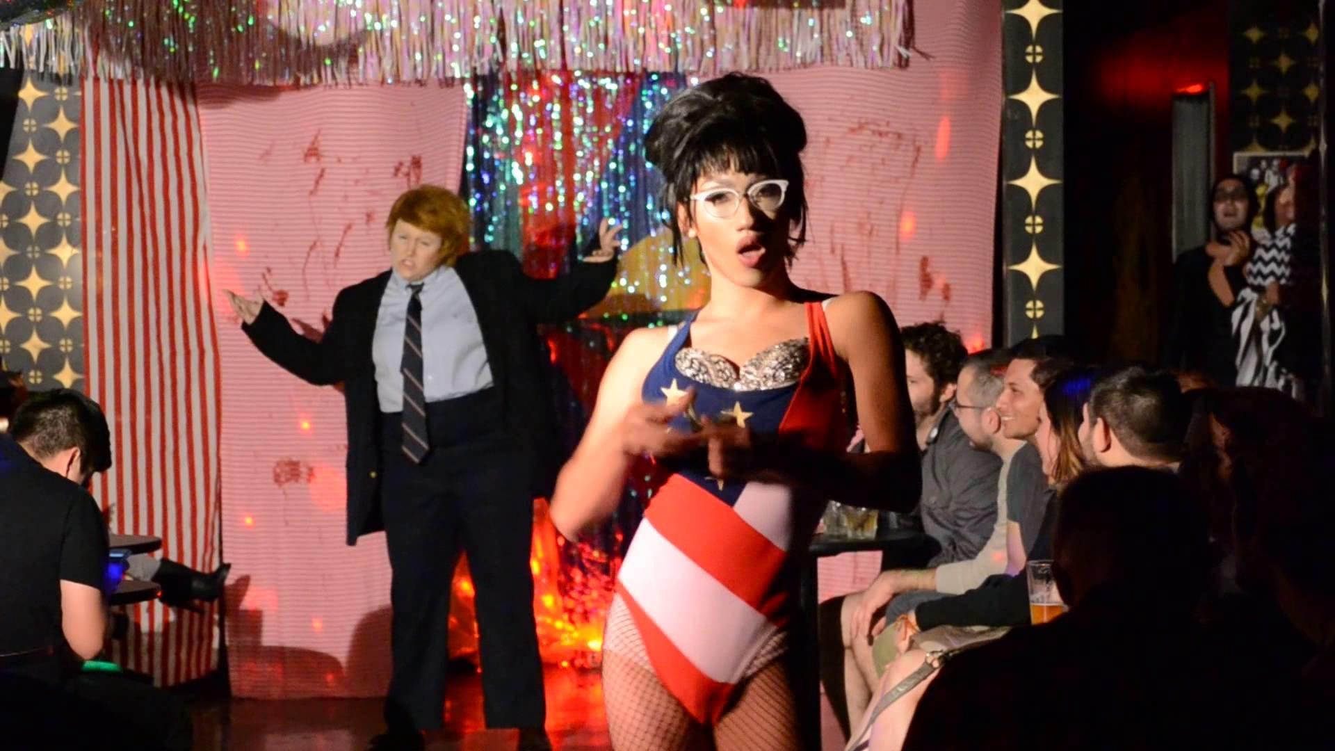 Stirfriedmermaid and Louie Minati (as Donald Trump and Sarah Palin) –  American Badass – YouTube