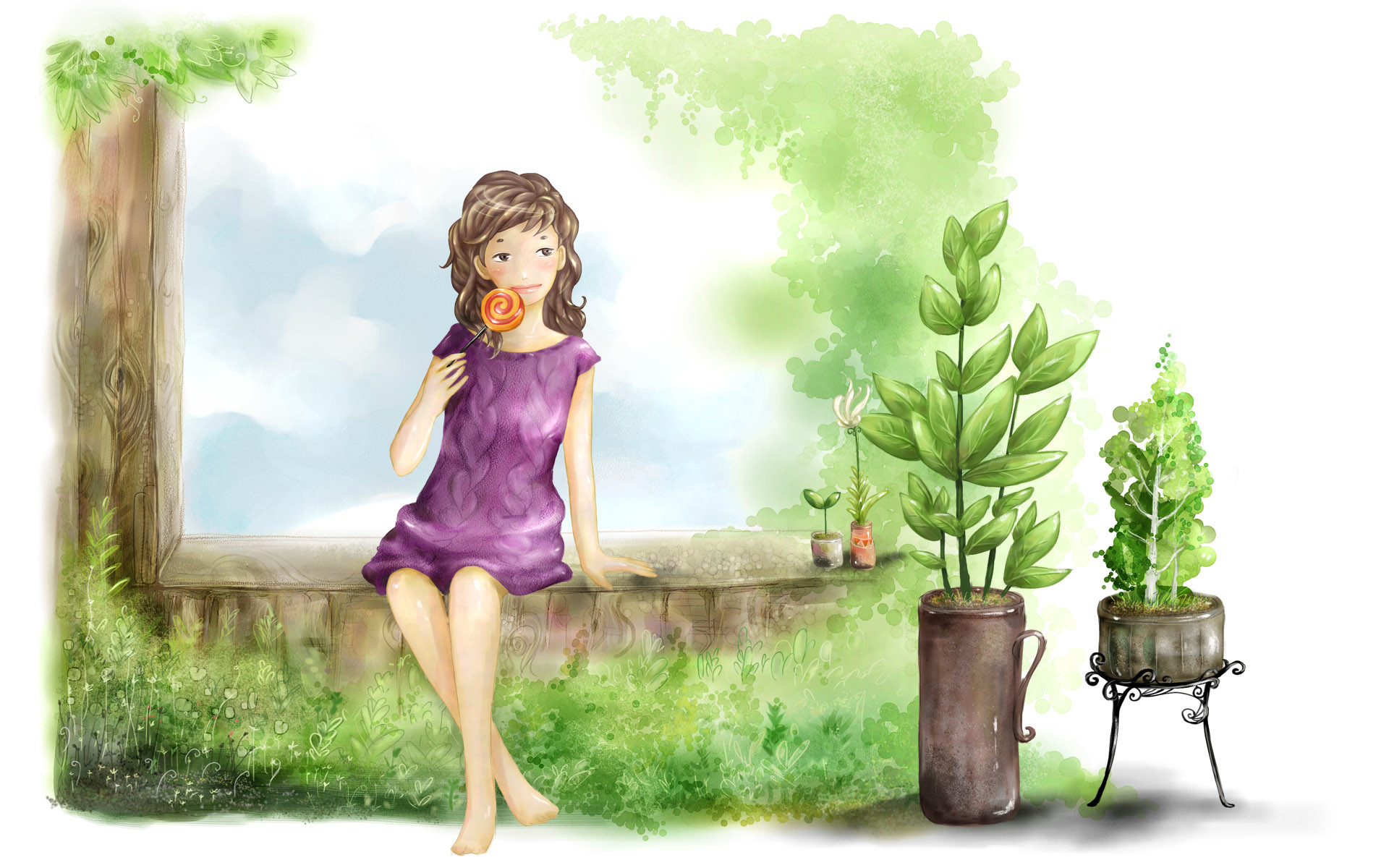 Cute Cartoon Wallpapers for Girls 1920×1200 Wallpapers Of Animated Girls  (54 Wallpapers)