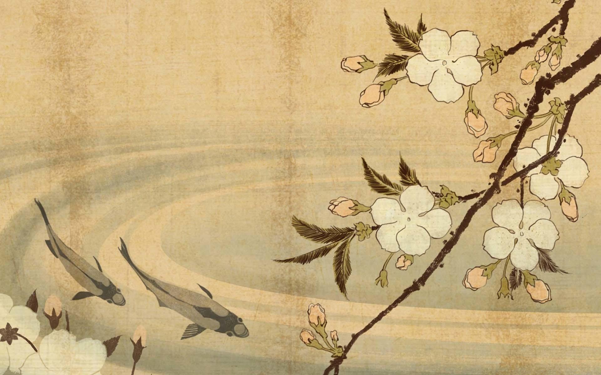 Japanese Carp Art Wallpaper – Download Best HD Desktop Wallpapers .