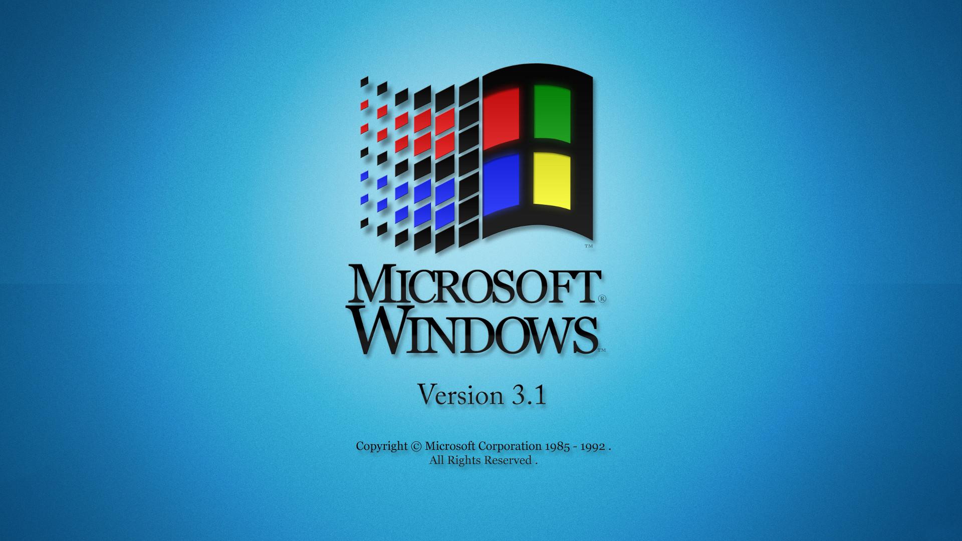 Microsoft Windows Version 3.1 desktop PC and Mac wallpaper