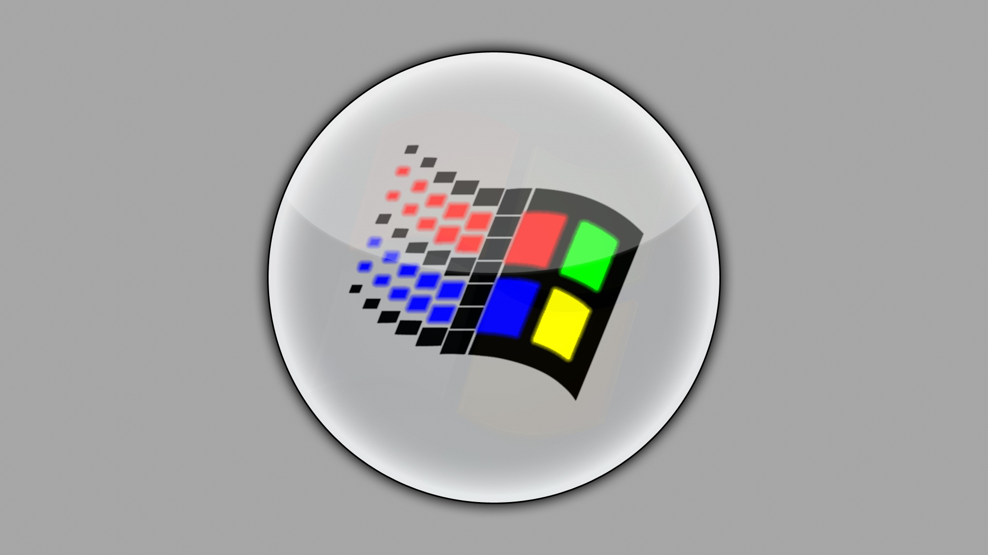 Old Windows Logo by Daunlouded Old Windows Logo by Daunlouded
