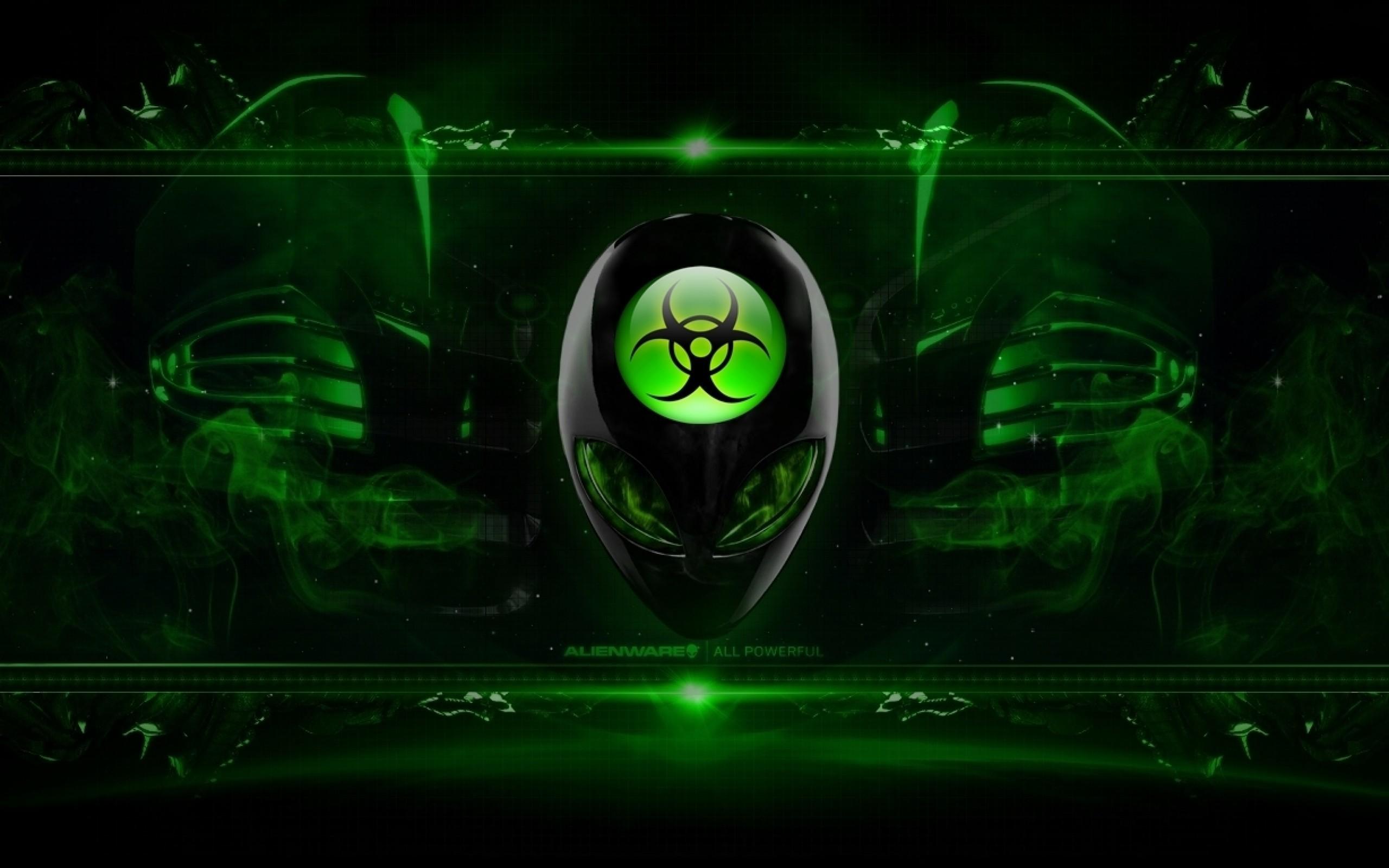 Alienware Desktop Background Radioactive Green 2560×1600