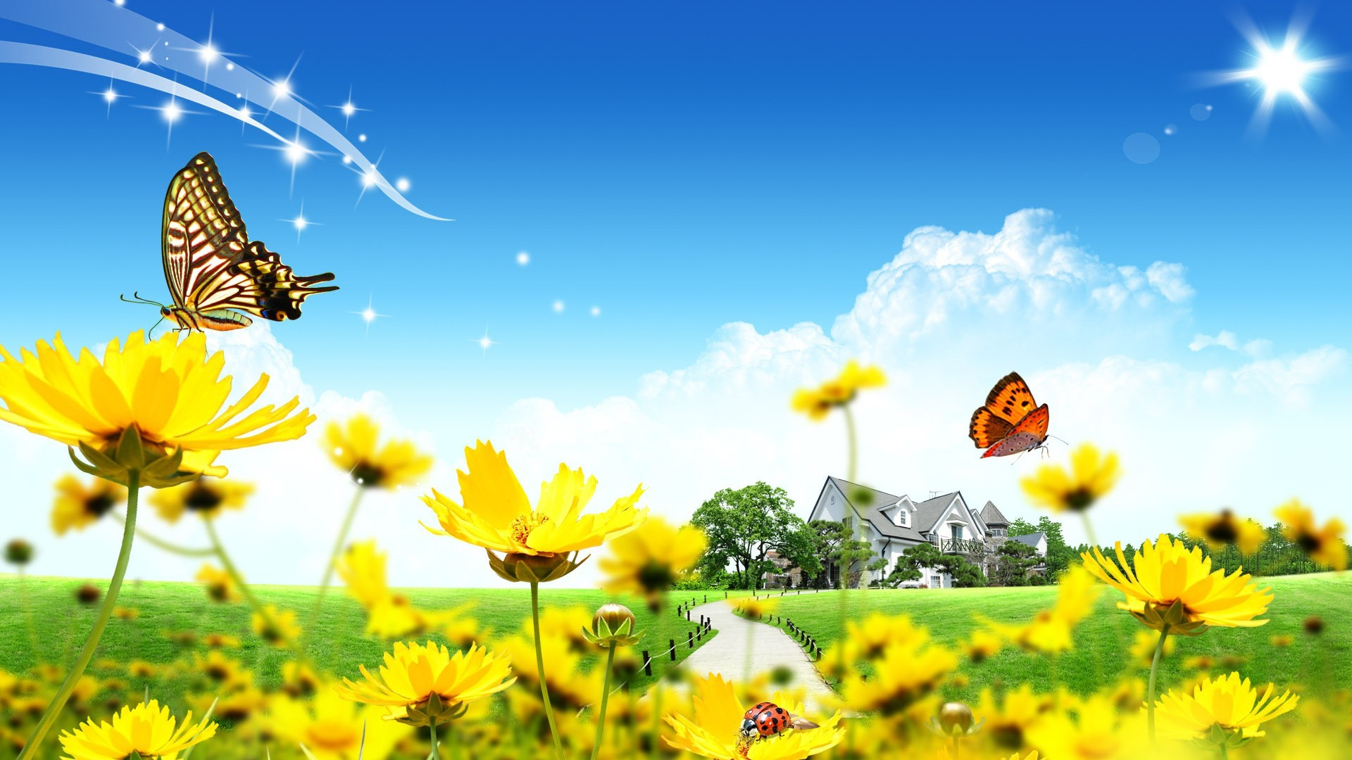 The Sunny Spring Windows 8.1 Theme | All For Windows 10 Free HTML code