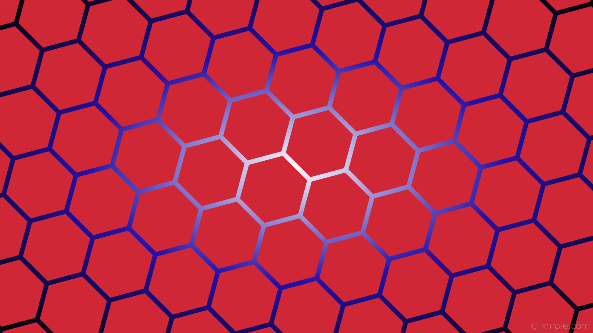 wallpaper gradient hexagon black red white blue glow #d02737 #ffffff  #2311a8 diagonal 45