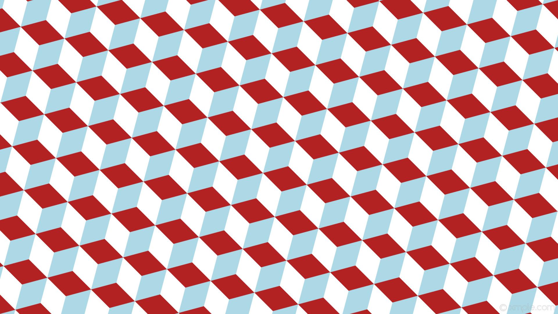 wallpaper red white 3d cubes blue light blue fire brick #add8e6 #b22222  #ffffff
