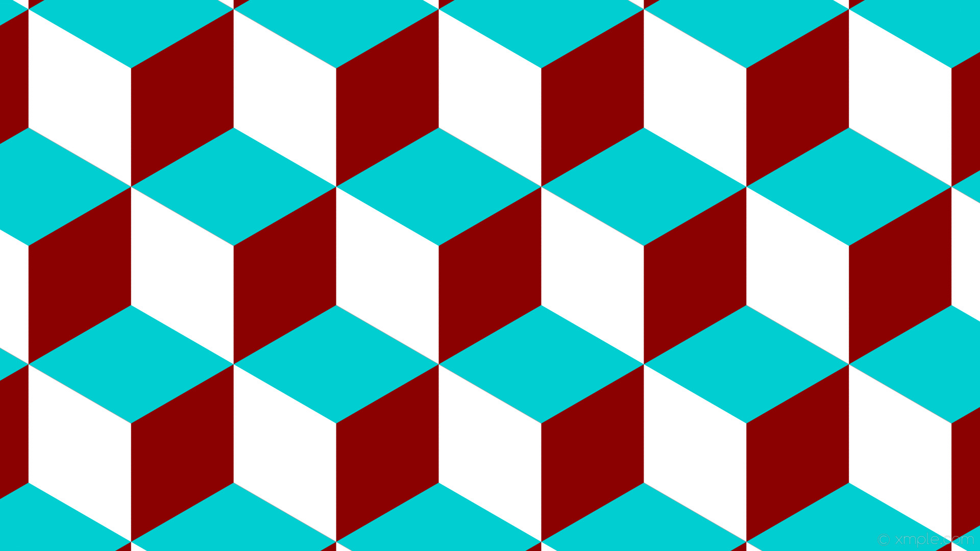 wallpaper red blue 3d cubes white dark red dark turquoise #8b0000 #00ced1  #ffffff