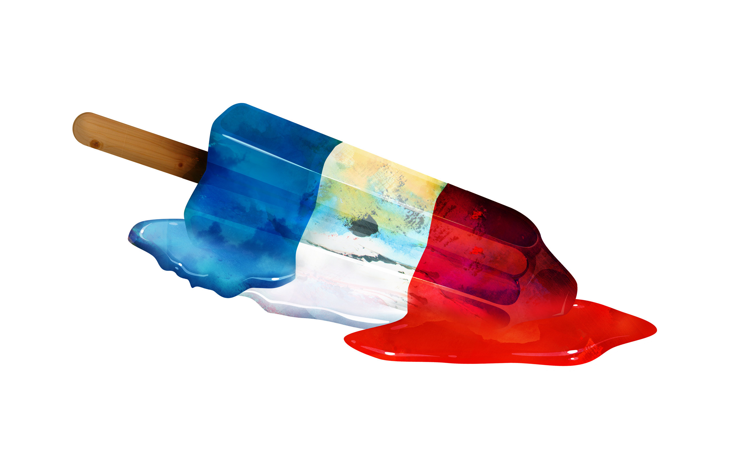 Popsicle vector art color red white blue summer melt stick liquid food  sweets wallpaper | | 40330 | WallpaperUP