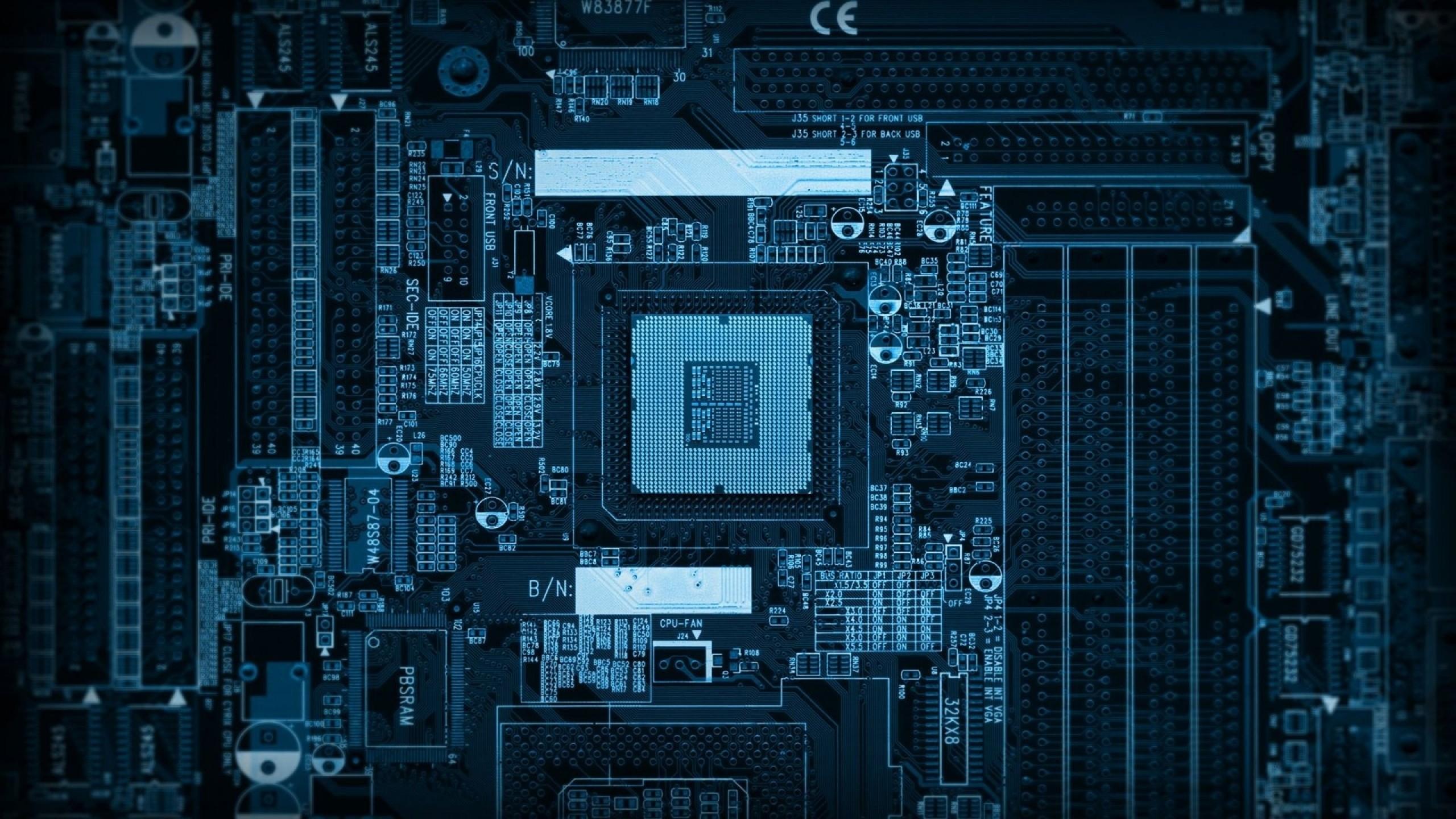 Preview wallpaper chip, computer, microchip, processor 2560×1440