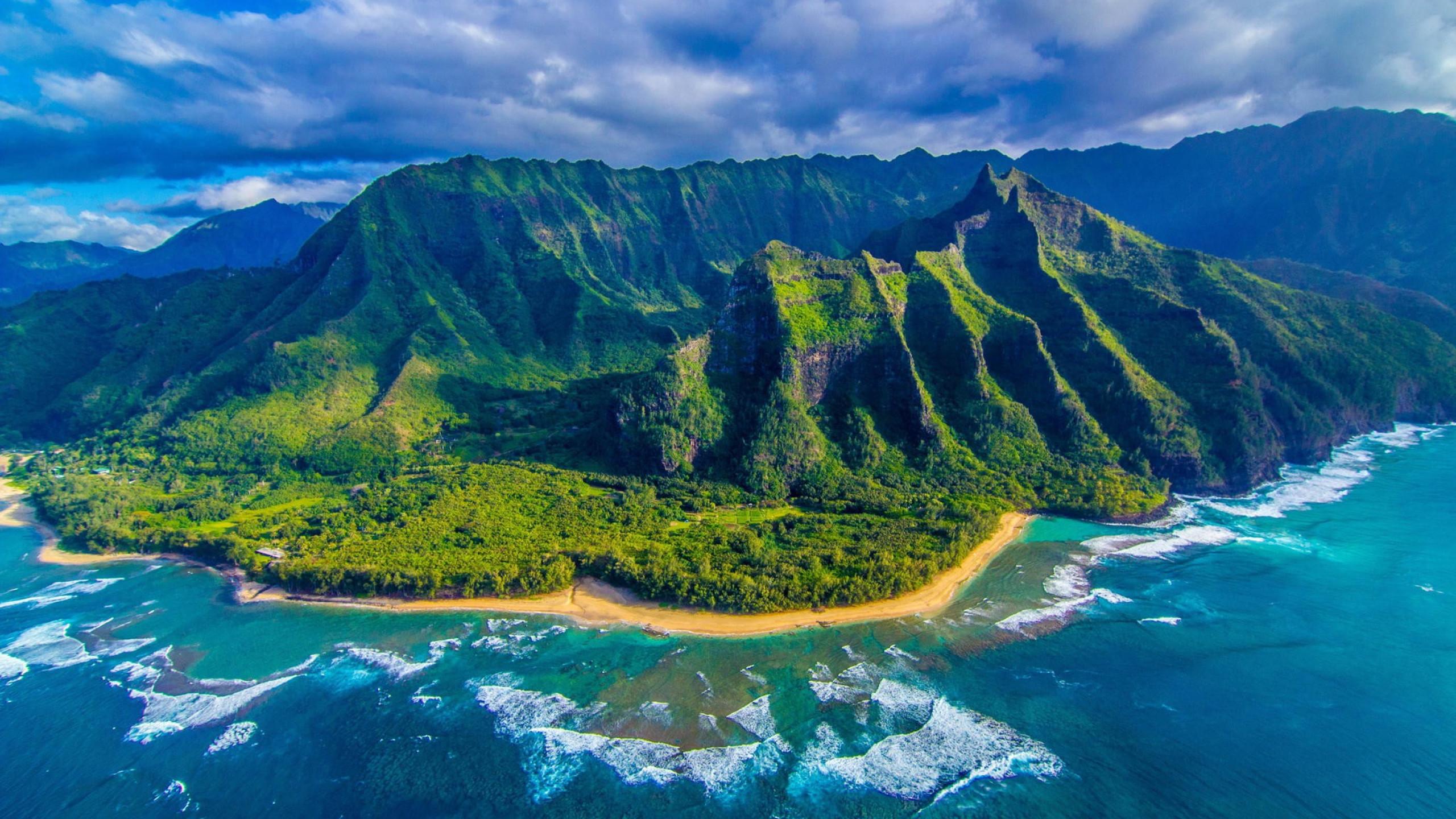 Hawaii Wallpaper Picture For Desktop Wallpaper 2560 x 1440 px 1.08 MB beach  sunset sunrise wave