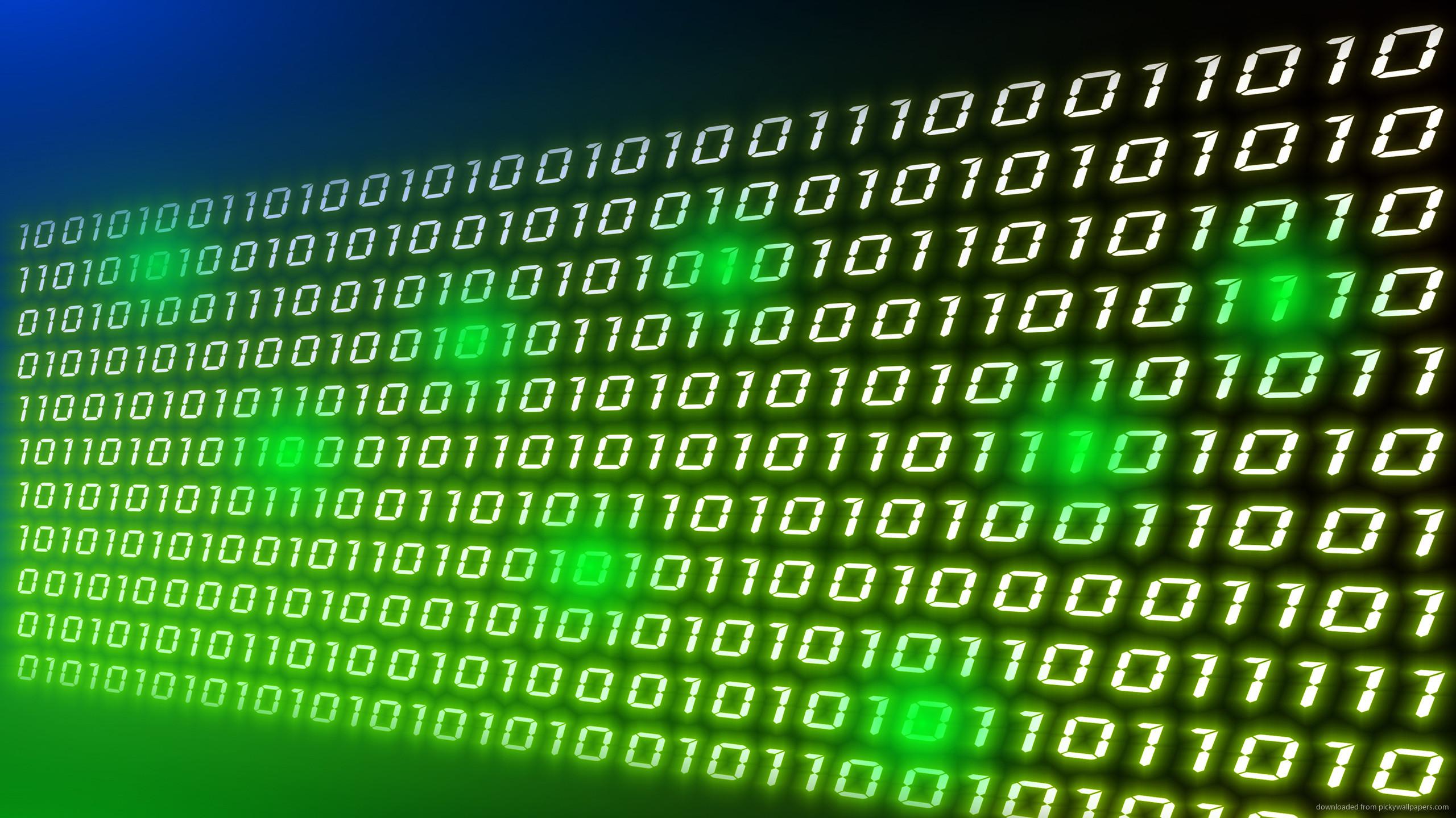 Binary Numbers Desktop Wallpaper for 2560×1440