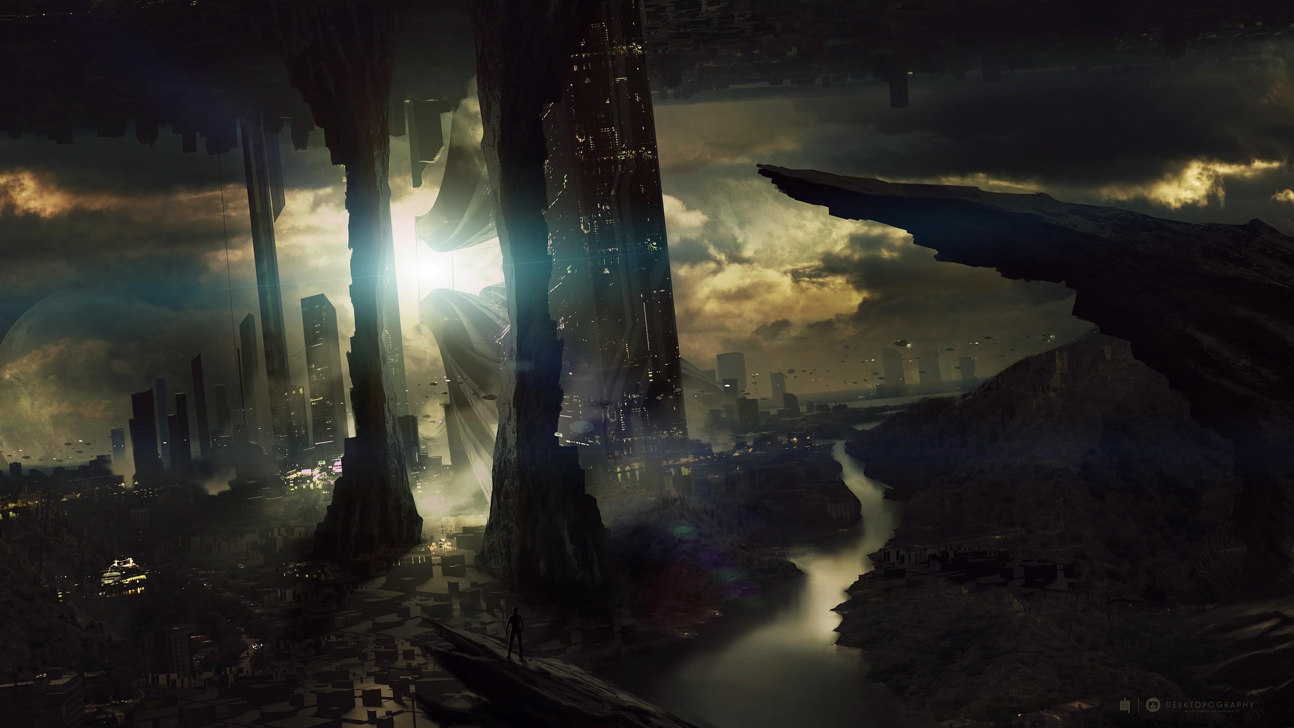 Sci Fi Landscape Wallpaper/Background 2560 x 1440 – Id: 334805 – Wallpaper  Abyss