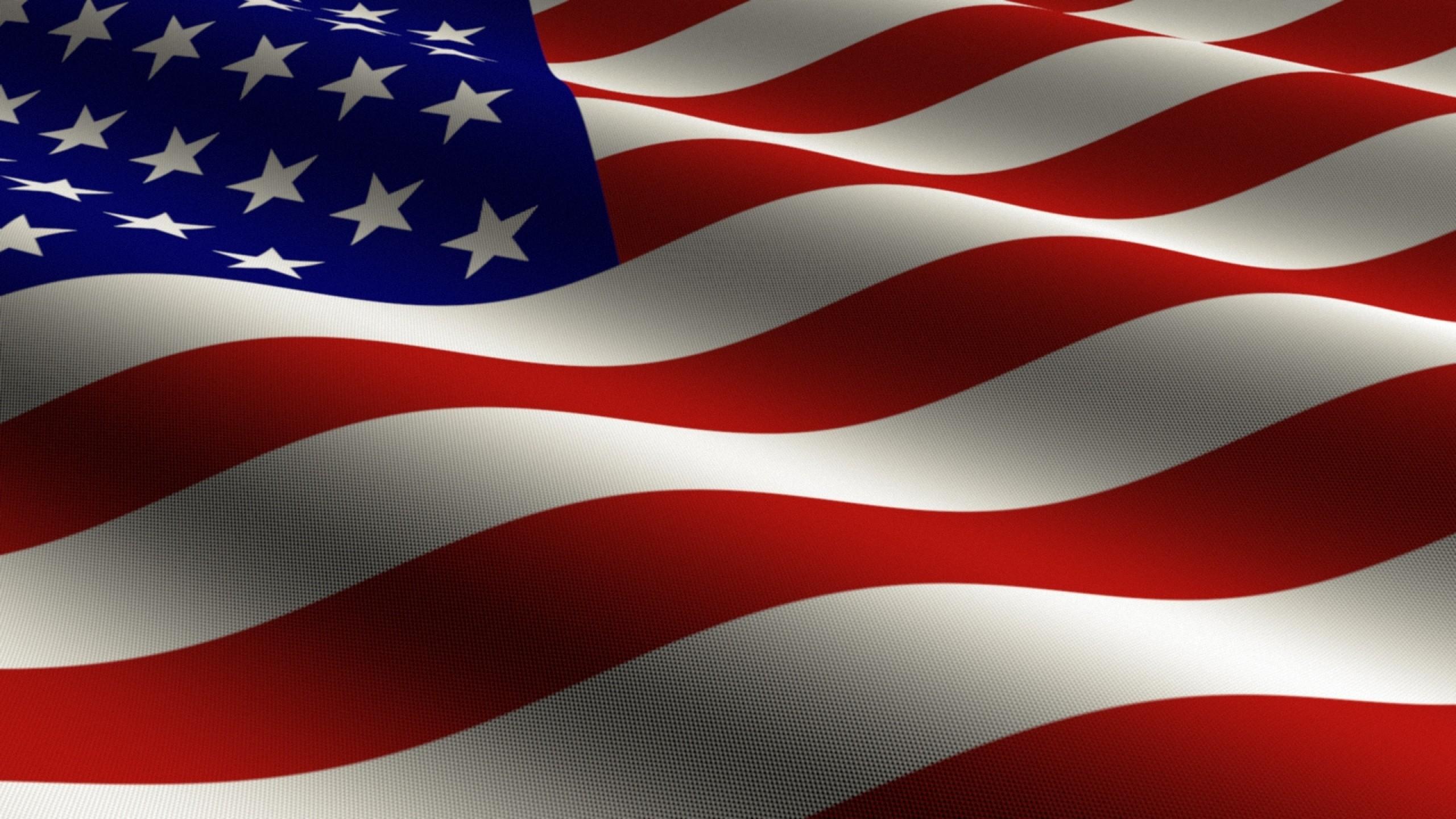Preview wallpaper flag, united states, stars, stripes, symbol 2560×1440