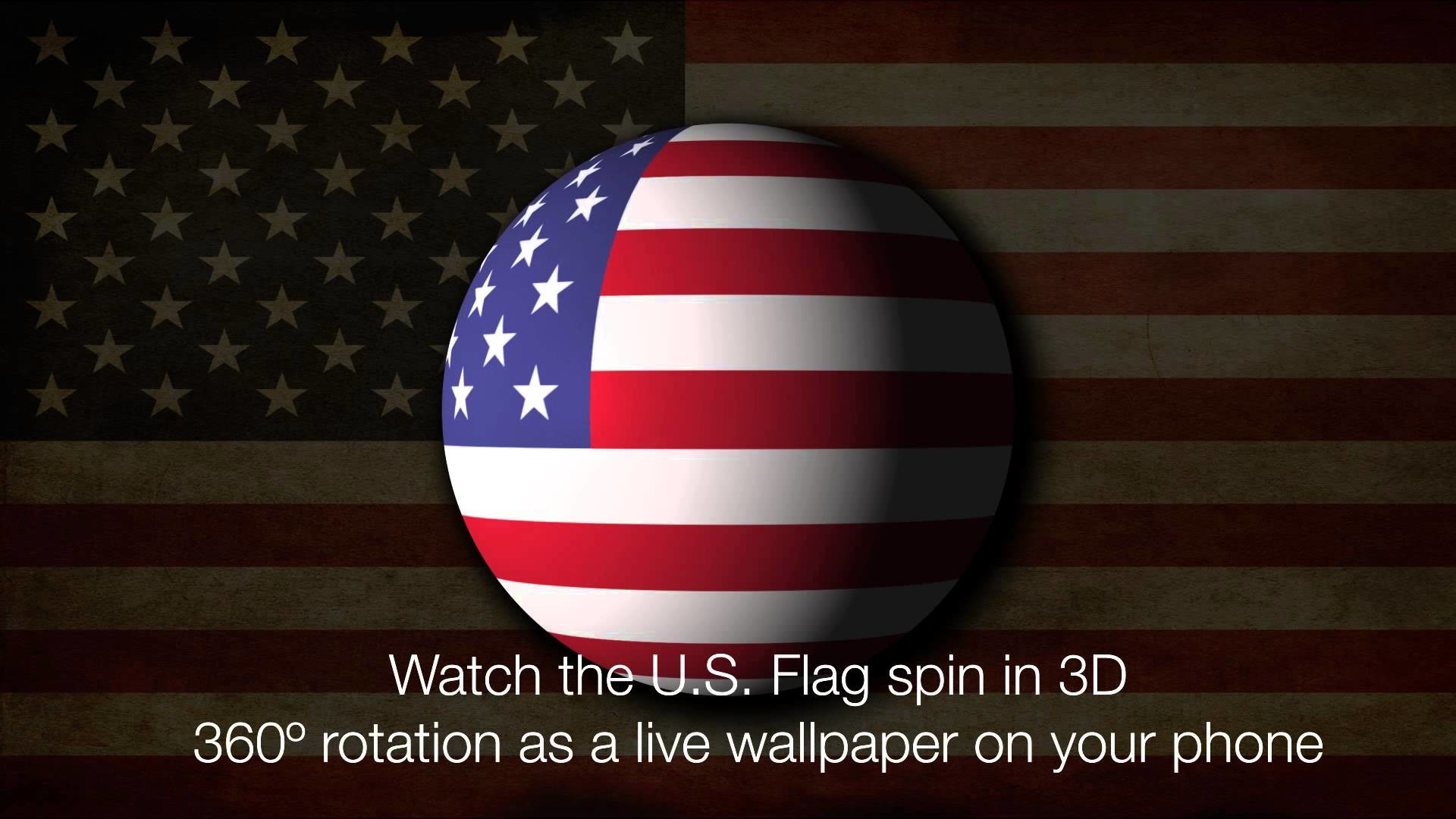 3D Spinning USA Flag Live Wallpaper