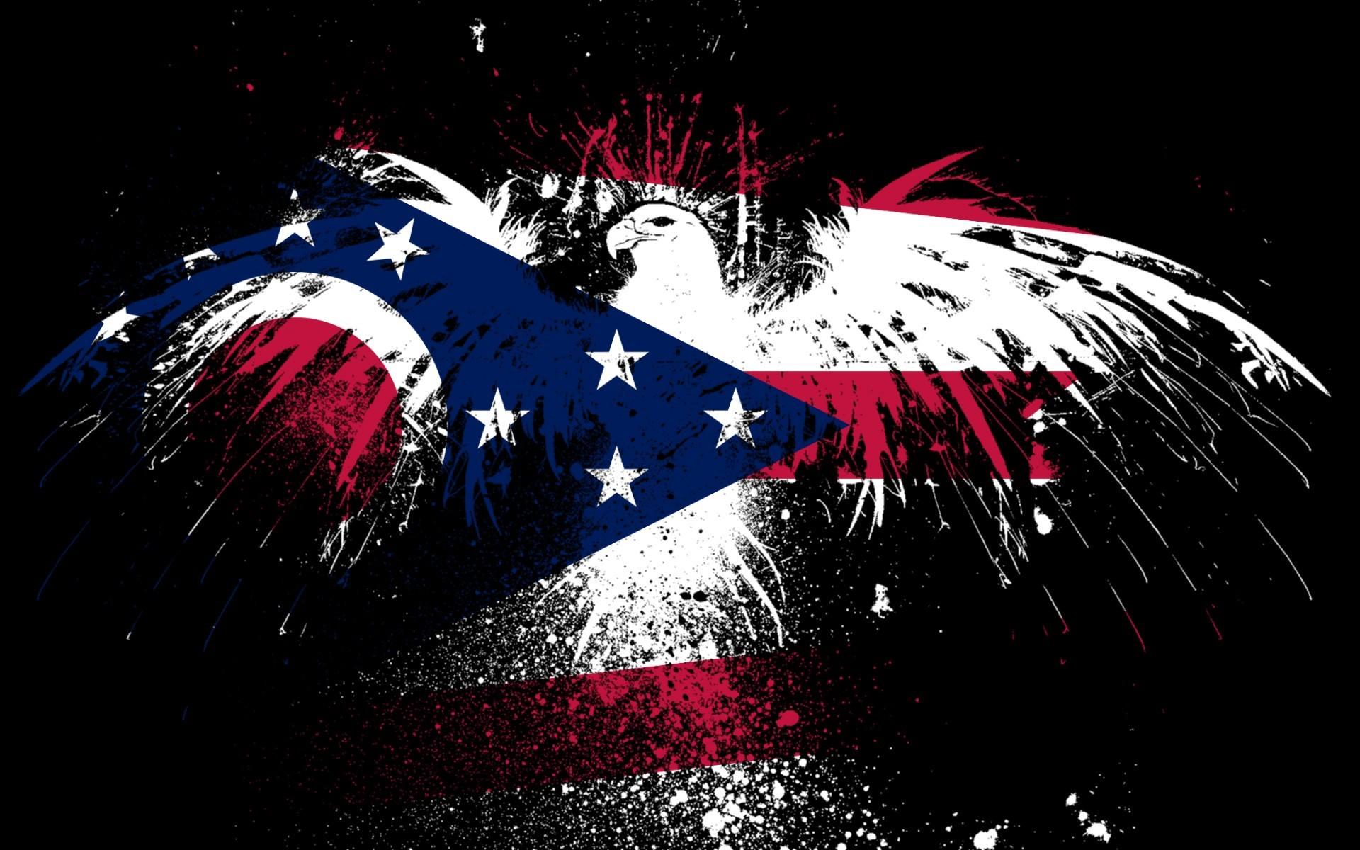 Eagles hawk flags usa ohio state wallpaper