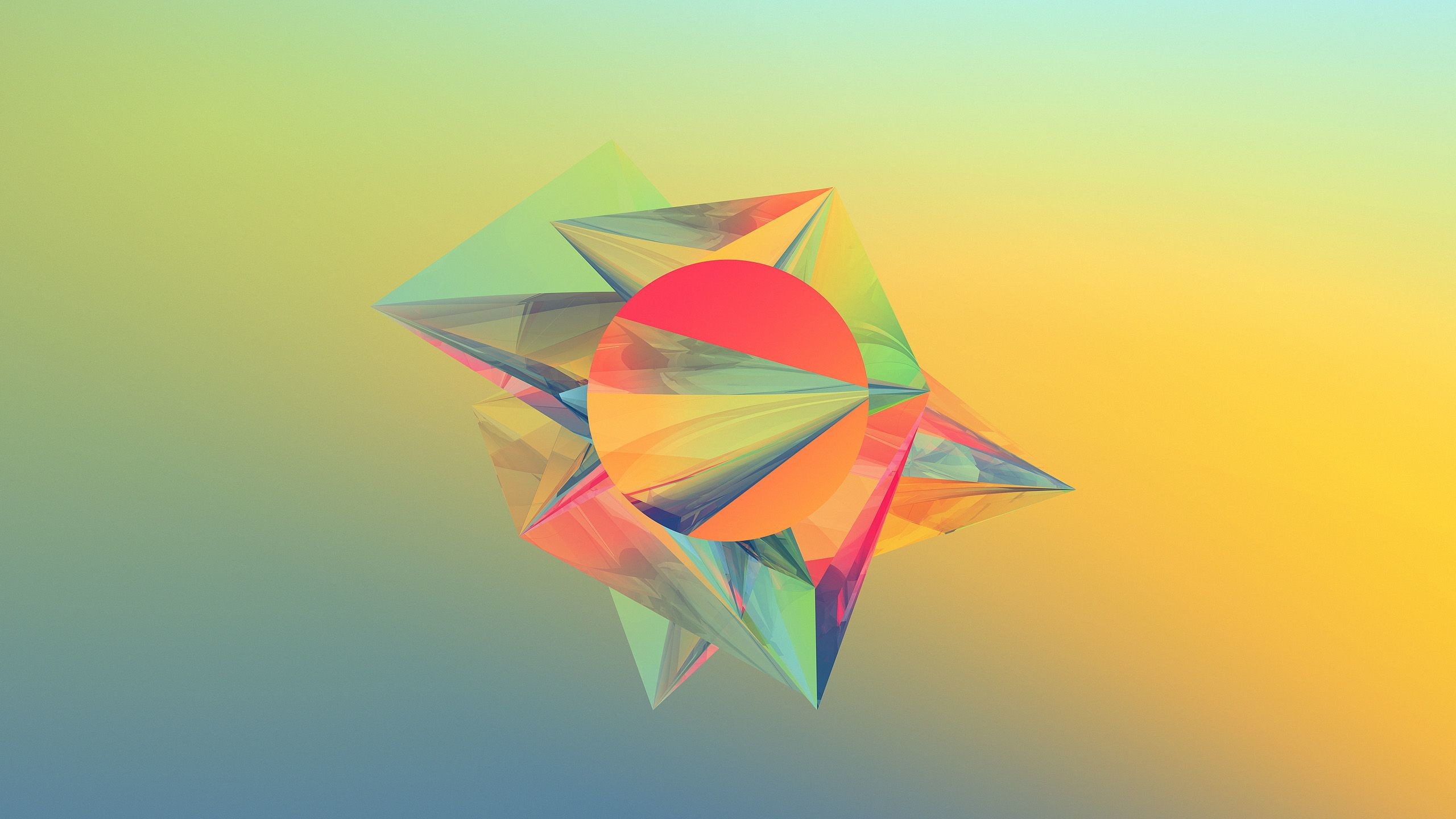 Geometric Abstract Shapes Wallpaper