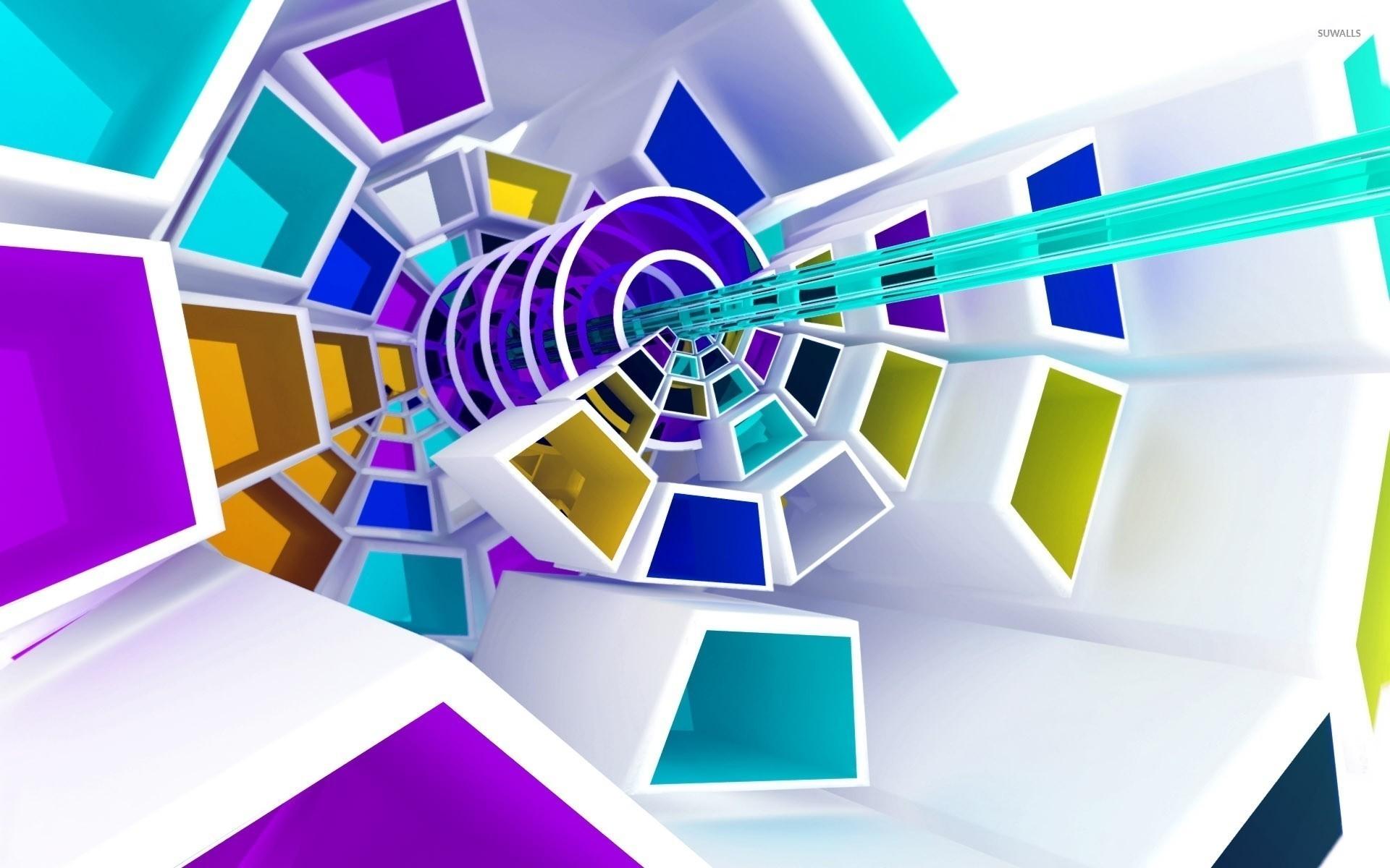 Spiraling shapes wallpaper jpg
