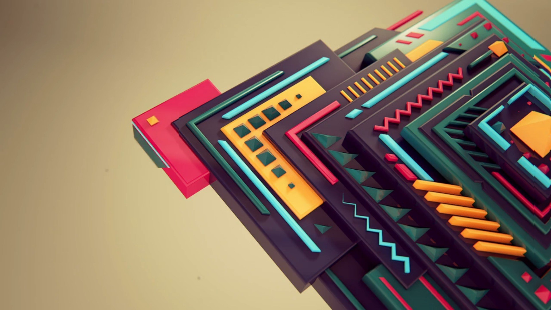 Geometric Chips Wallpaper