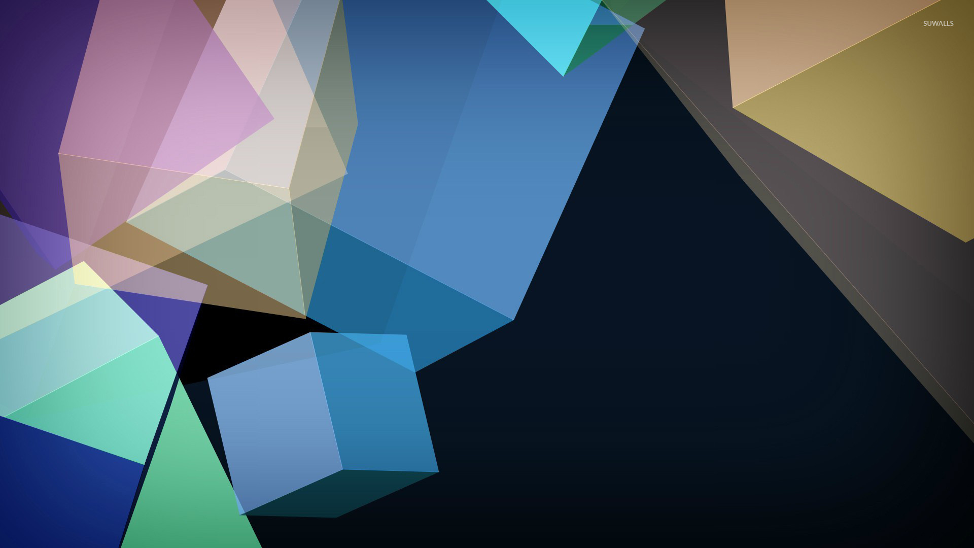 Transparent shapes wallpaper jpg